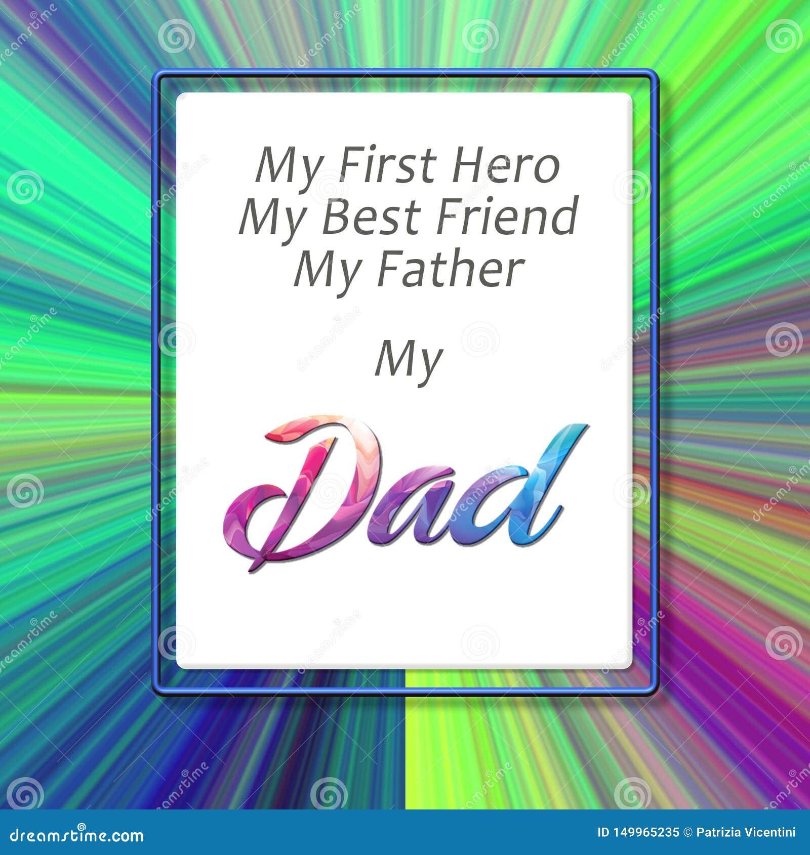 De gelukkige Dag van Vaders Brief aan mijn vader