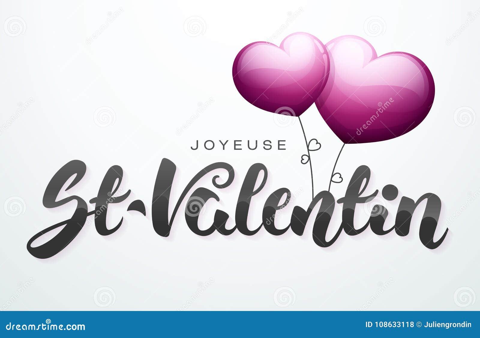 De gelukkige Dag van Valentine ` s in het Frans: Joyeuse st-Valentin