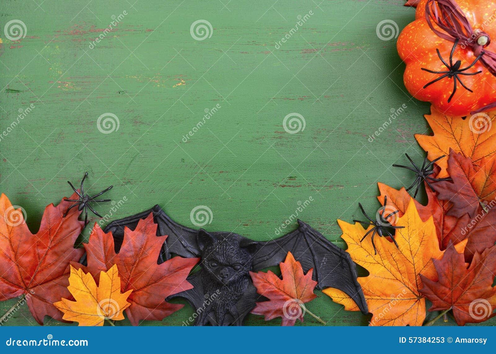 De gelukkige Houten Achtergrond van Halloween met Copyspace