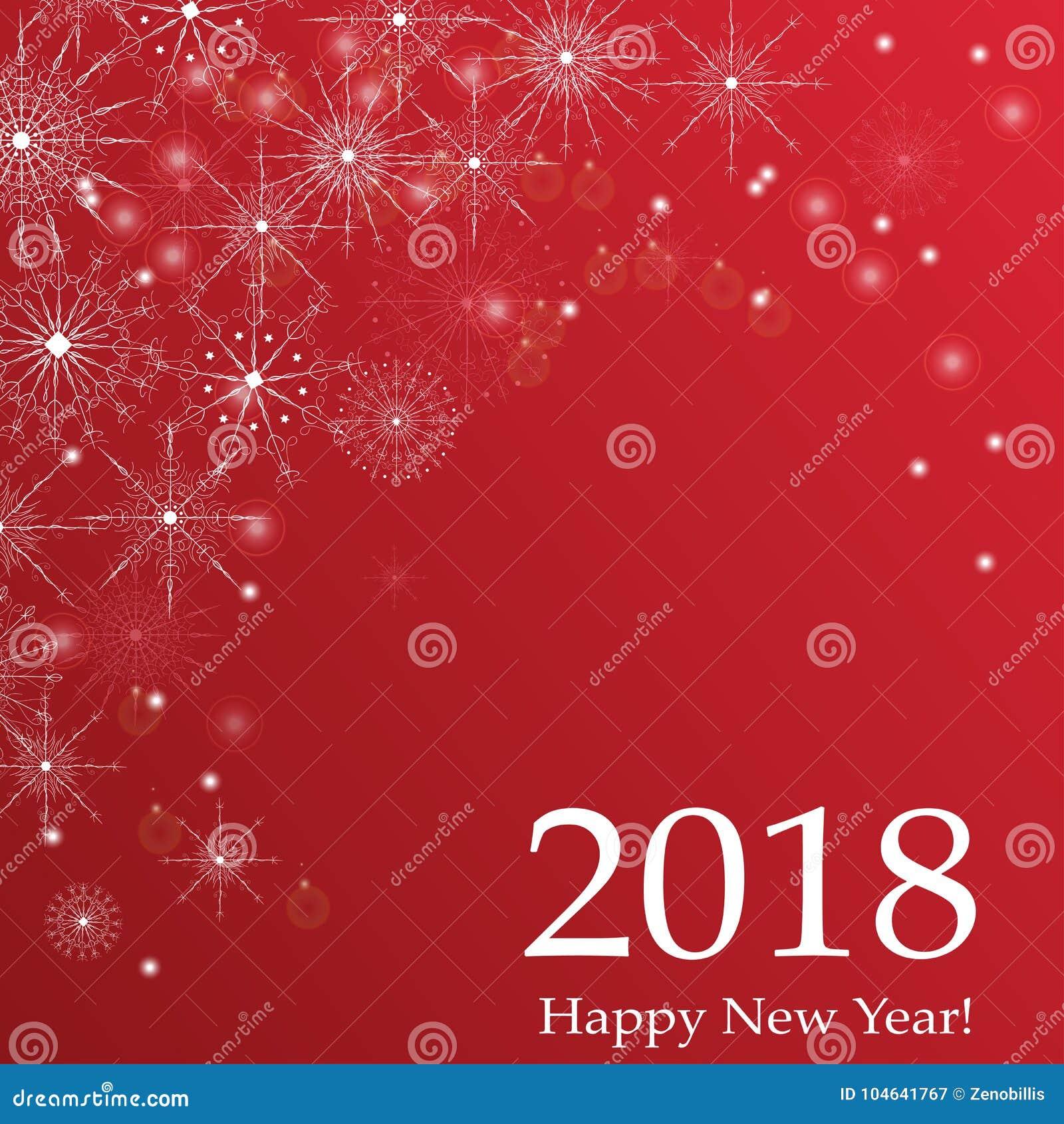 Download De Gelukkige Illustratie Van De Het Ontwerp Vectorgroet Van De Nieuwjaar 2018 Vakantie Van Letters Voorziende Vector Illustratie - Illustratie bestaande uit gebeurtenis, kaart: 104641767