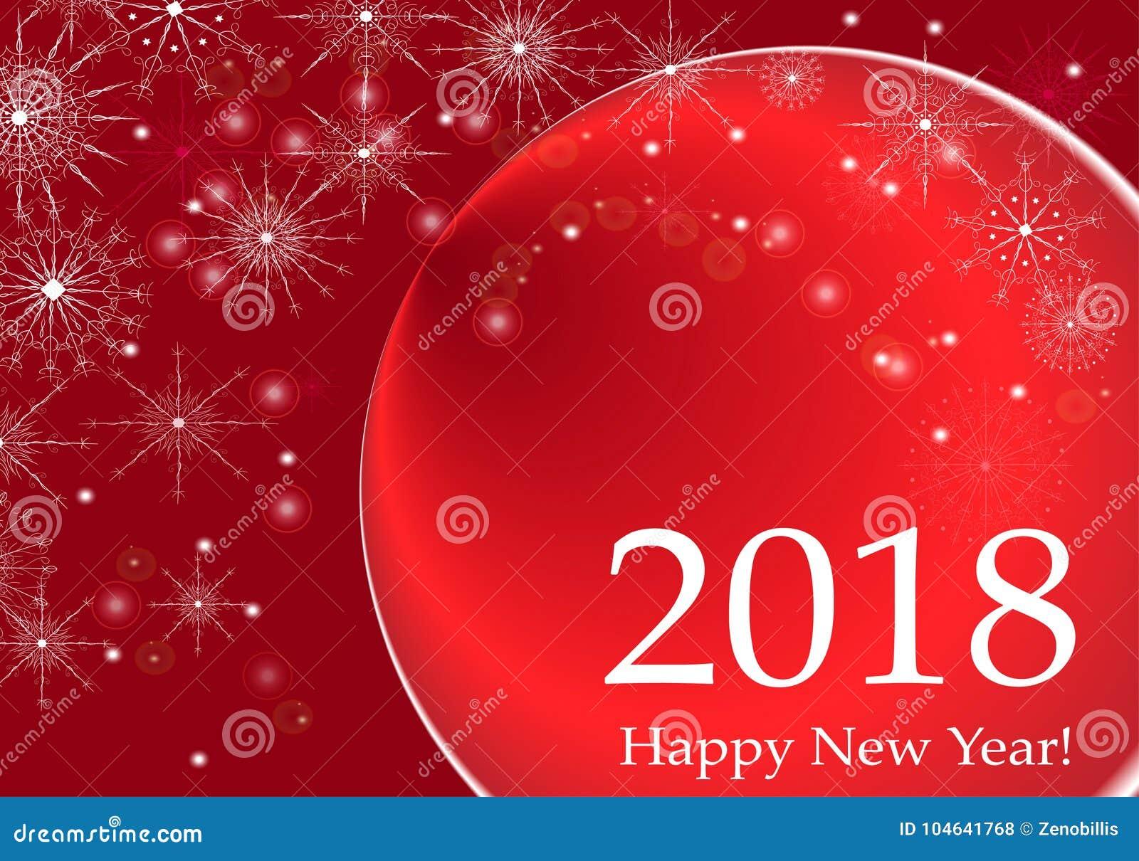 Download De Gelukkige Illustratie Van De Het Ontwerp Vectorgroet Van De Nieuwjaar 2018 Vakantie Van Letters Voorziende Vector Illustratie - Illustratie bestaande uit ontwerp, gelukkig: 104641768