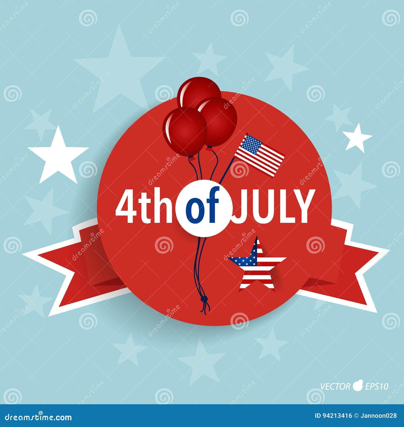 De gelukkige kaart de Verenigde Staten van Amerika van de onafhankelijkheidsdag Amerikaans F