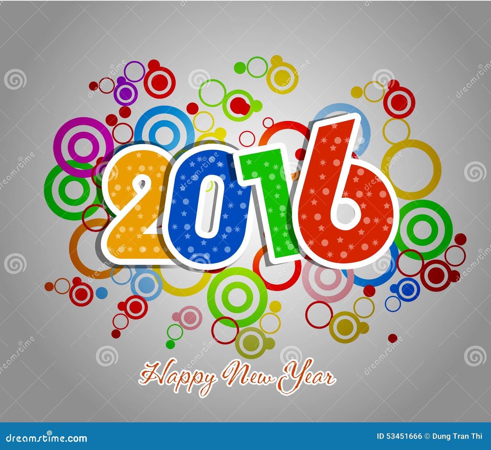 de gelukkige kaart van de nieuwjaar 2016 groet vector illustratie afbeelding 53451666. Black Bedroom Furniture Sets. Home Design Ideas