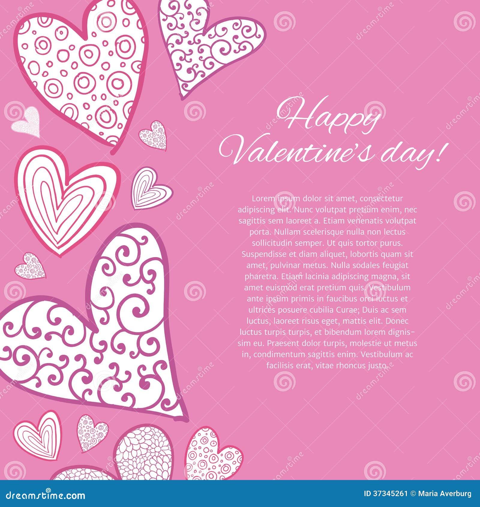 De gelukkige kaart van de valentijnskaartendag.