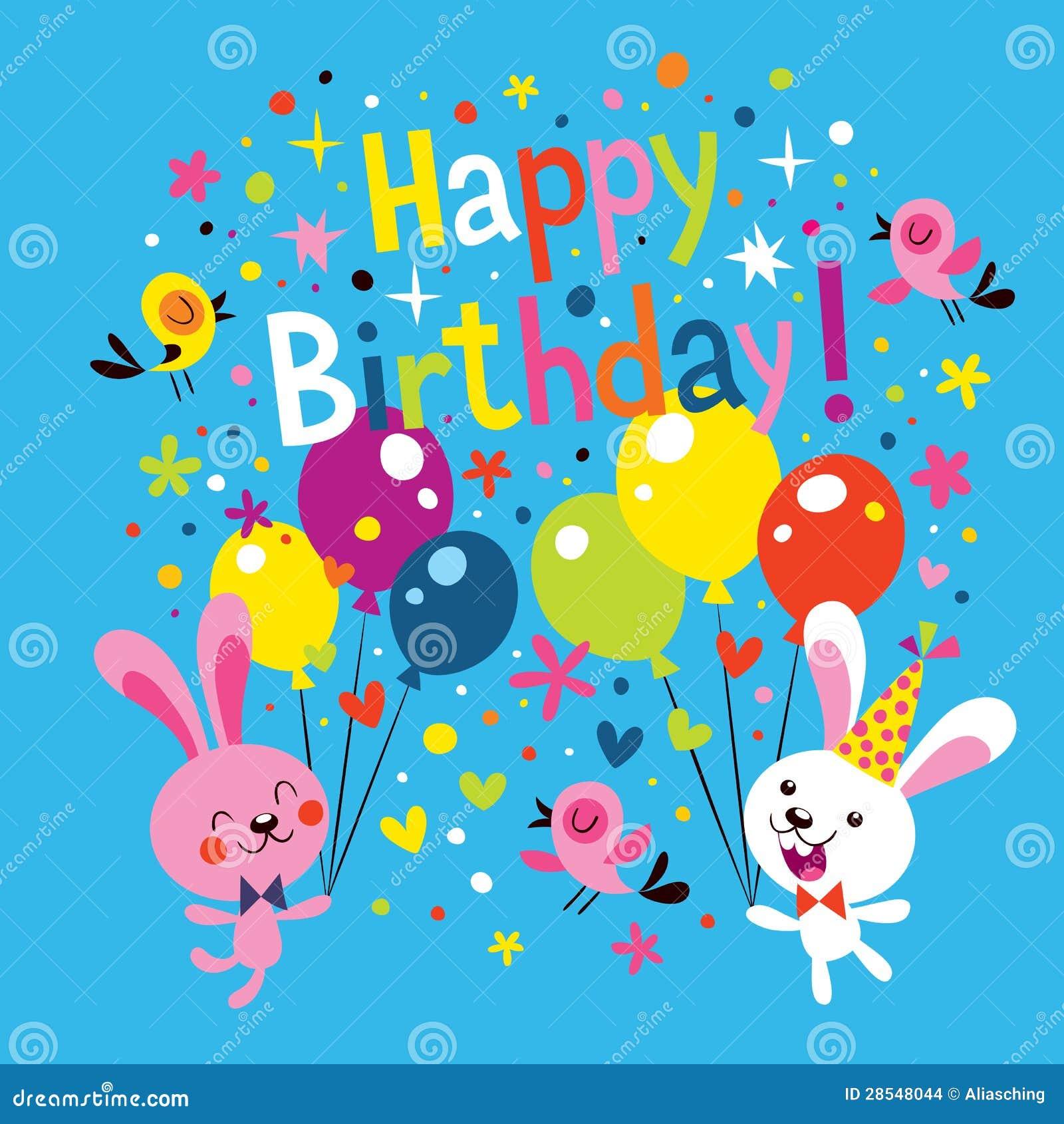 Kaart Verjaardag.De Gelukkige Kaart Van De Verjaardag Vector Illustratie