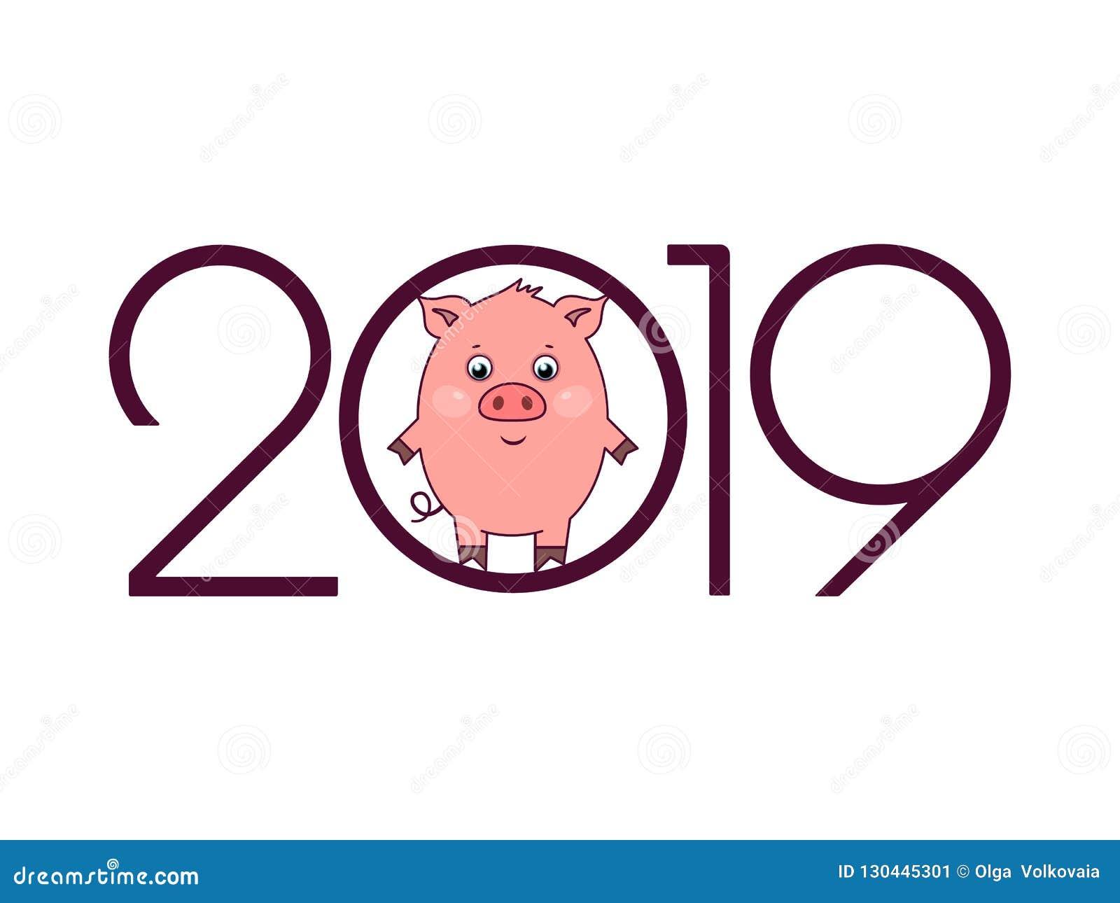 2019 de Gelukkige kaart van de Nieuwjaargroet
