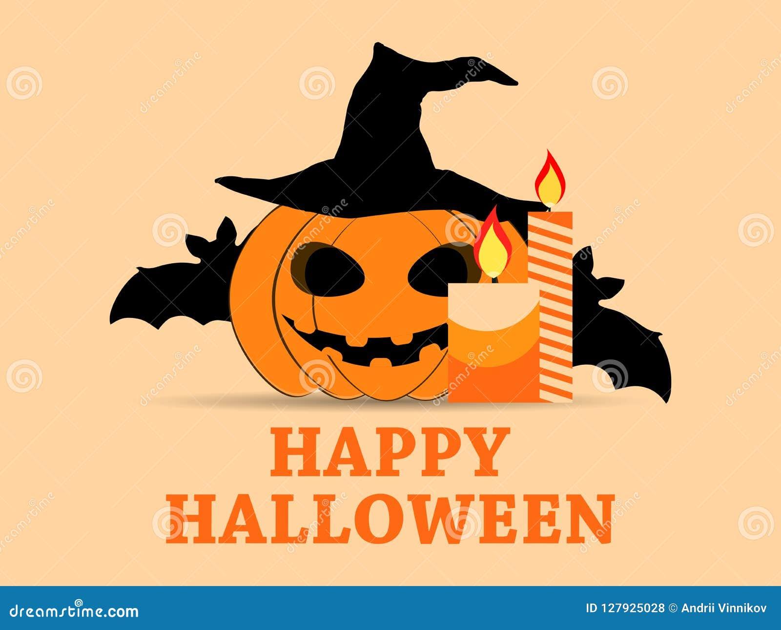 31 Oktober Halloween Feest.De Gelukkige Kaart Van De De Vakantiegroet Van Halloween 31