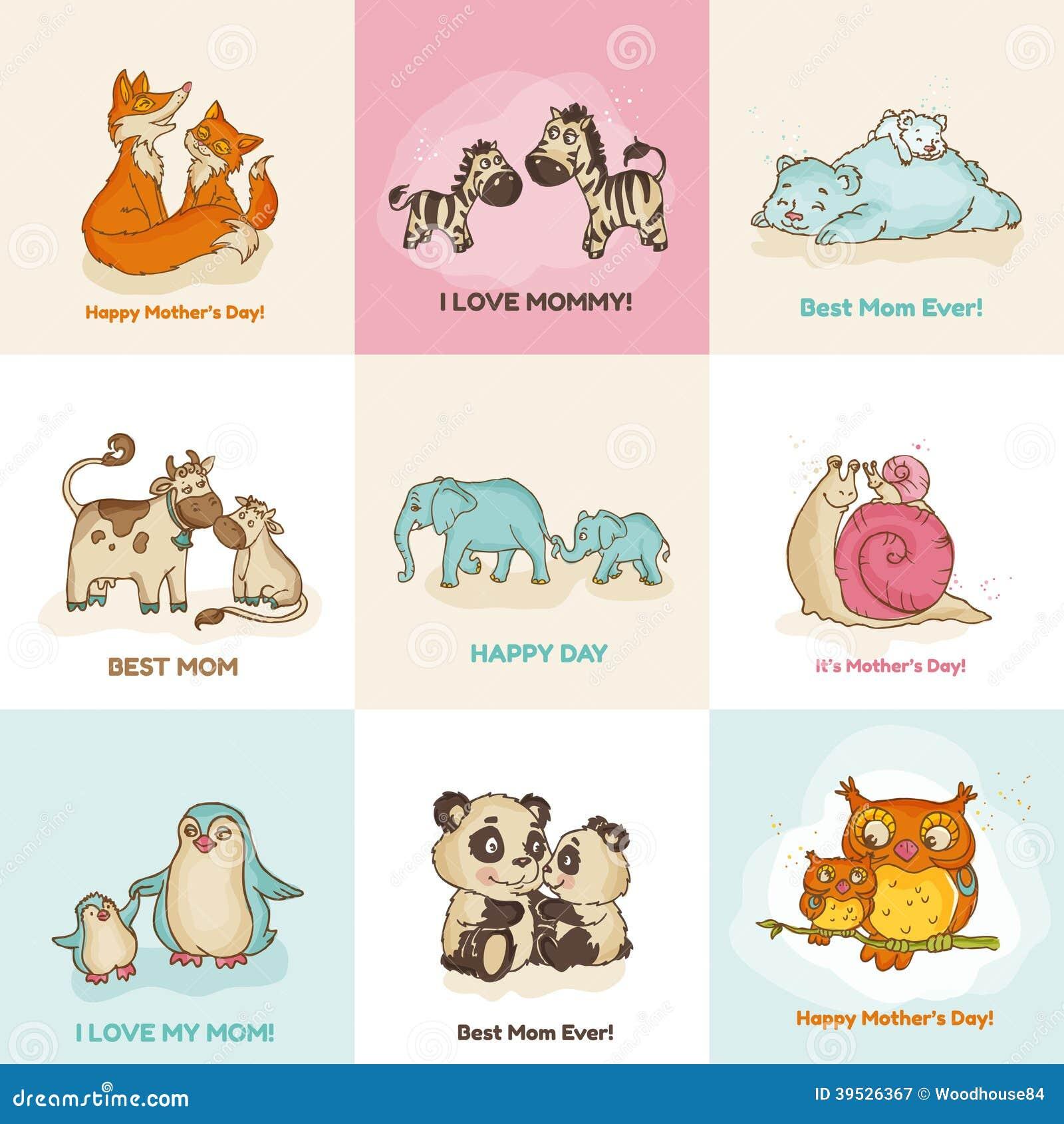 De gelukkige Kaarten van de Moedersdag