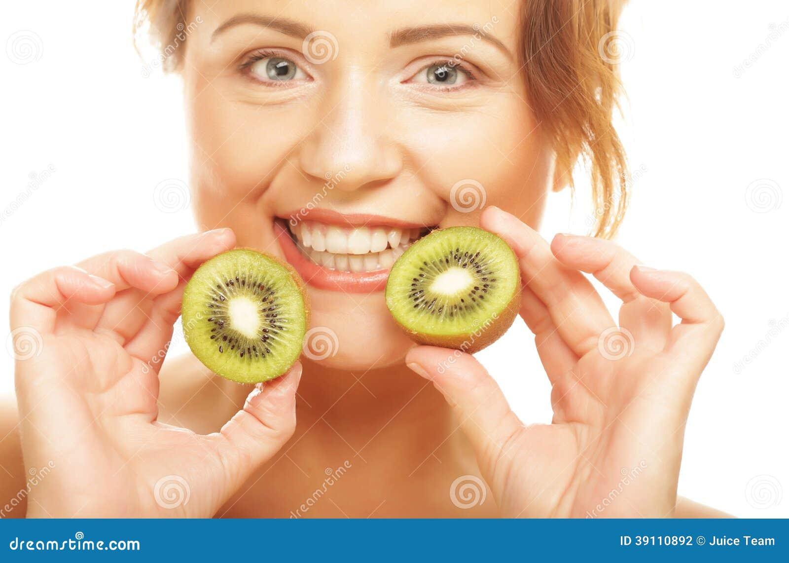 De gelukkige kiwi van de vrouwenholding