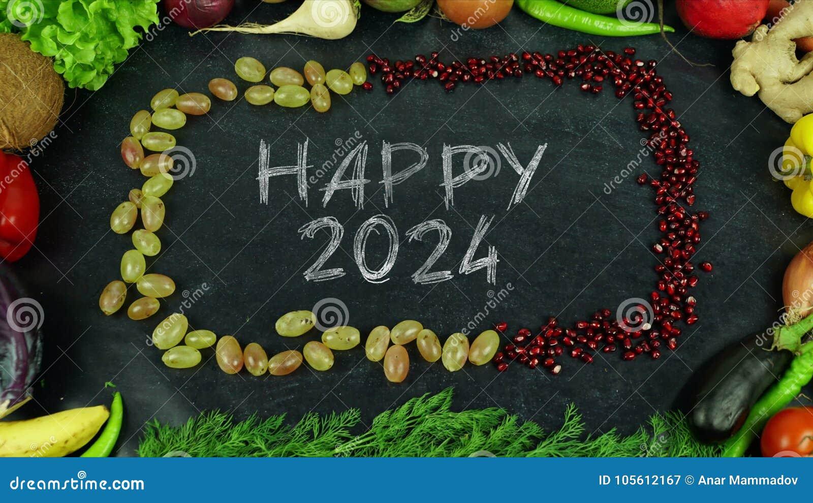 De gelukkige motie van het het fruiteinde van 2024