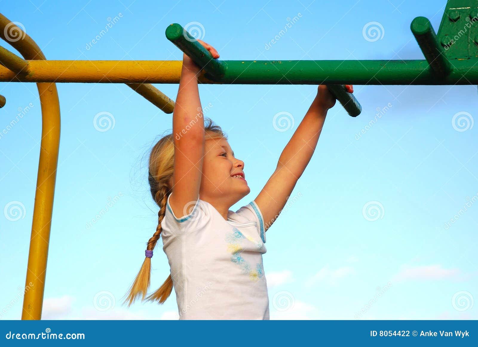 De gelukkige speelplaats van het kind