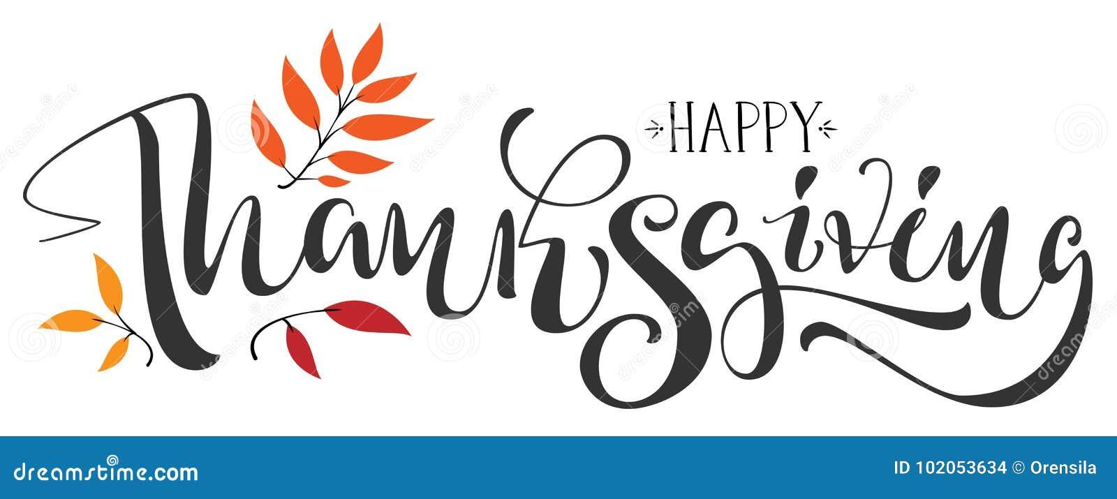 De gelukkige tekst van de Dankzeggingskalligrafie voor groetkaart