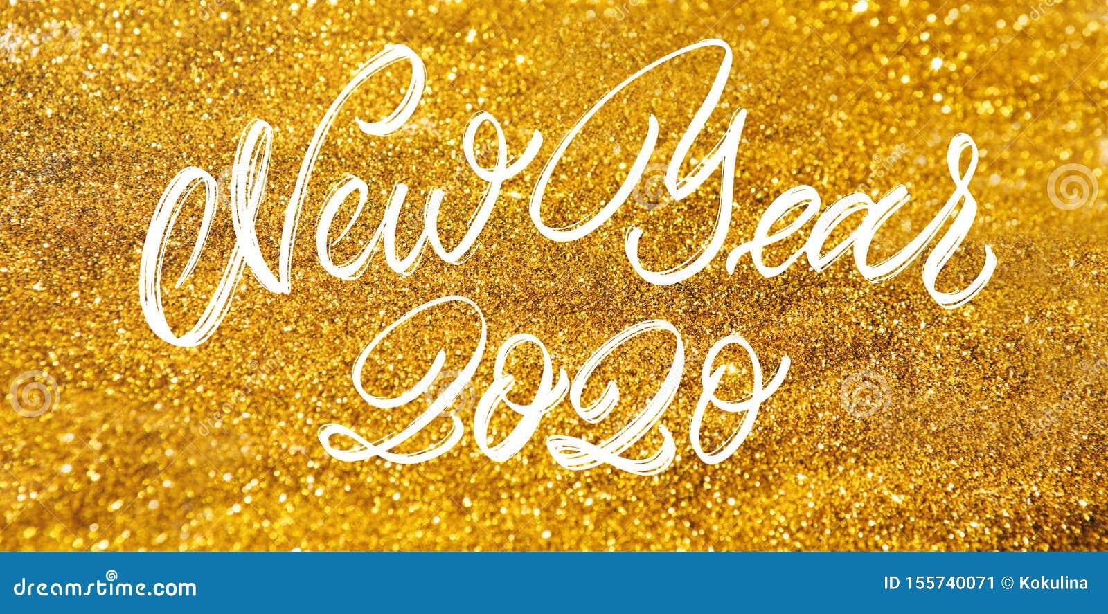 De gelukkige tekst van de Nieuwjaar 2020 Viering