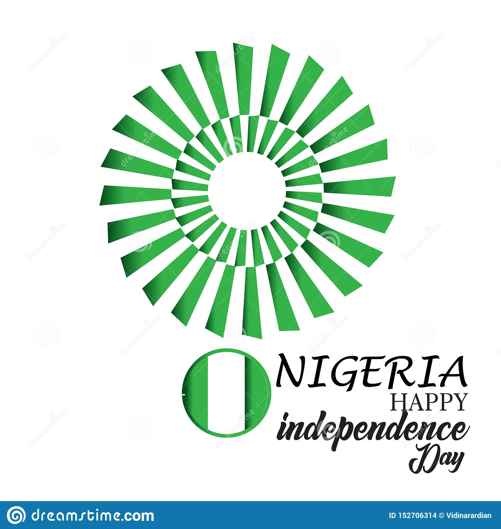 De gelukkige van de de Onafhankelijkheidsdag van Nigeria Illustratie van het het Malplaatjeontwerp Vector