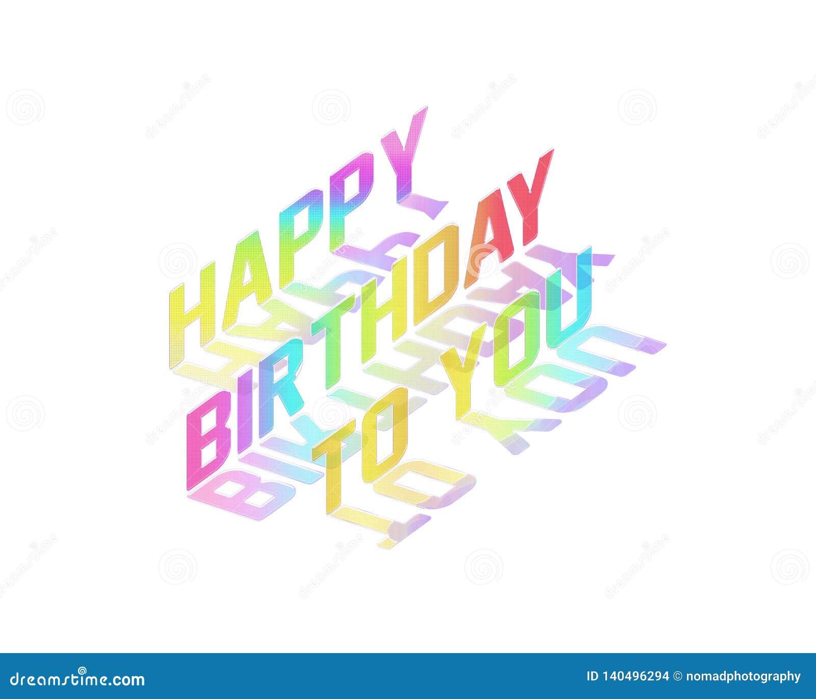 De gelukkige Verjaardag aan u, viert Illustratie