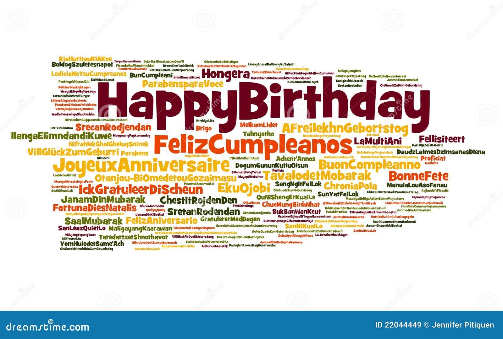 De Gelukkige Wolk Van De Verjaardag Stock Illustratie Illustratie