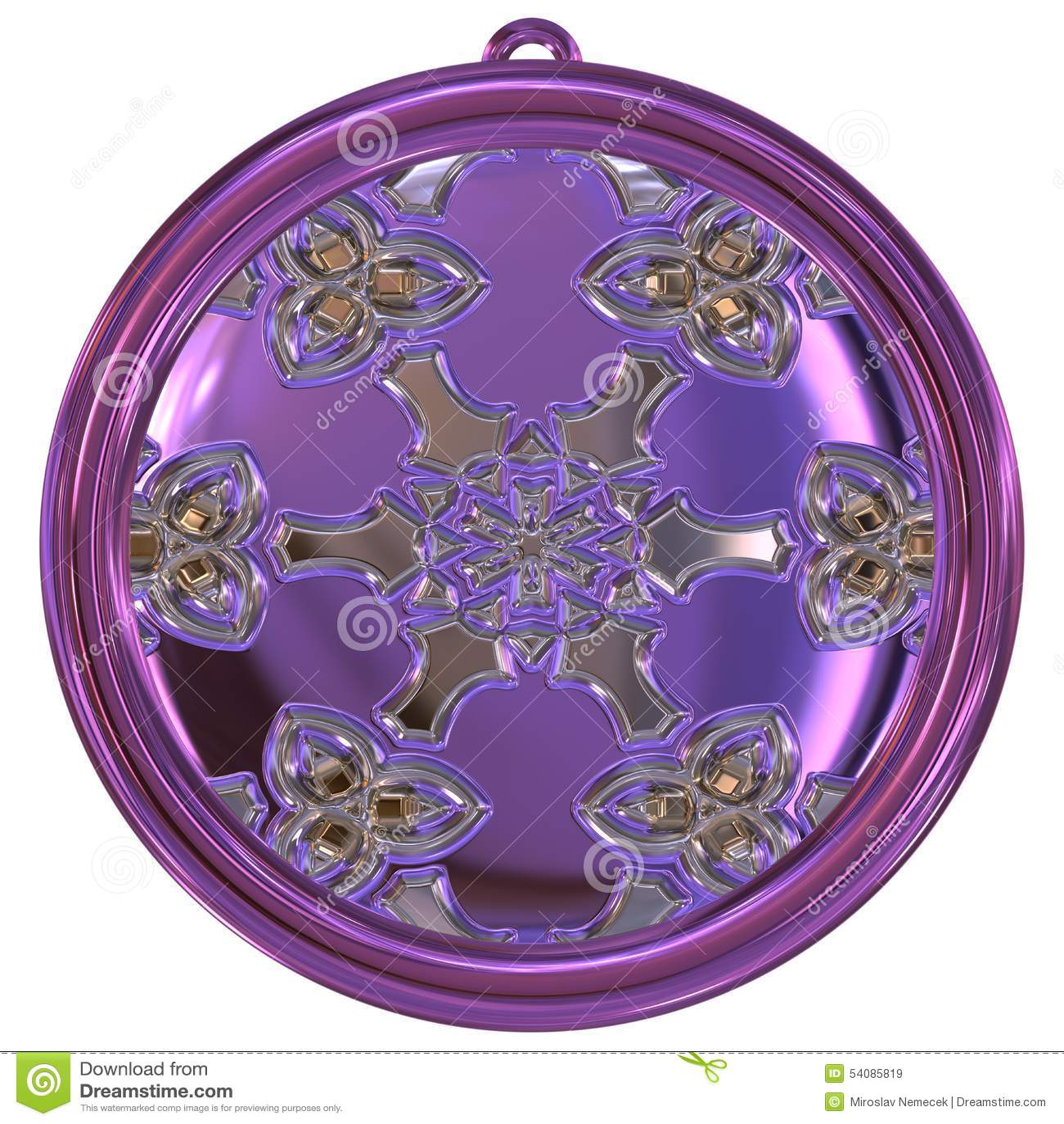 De geproduceerde textuur van het Jewelledmetaal orb