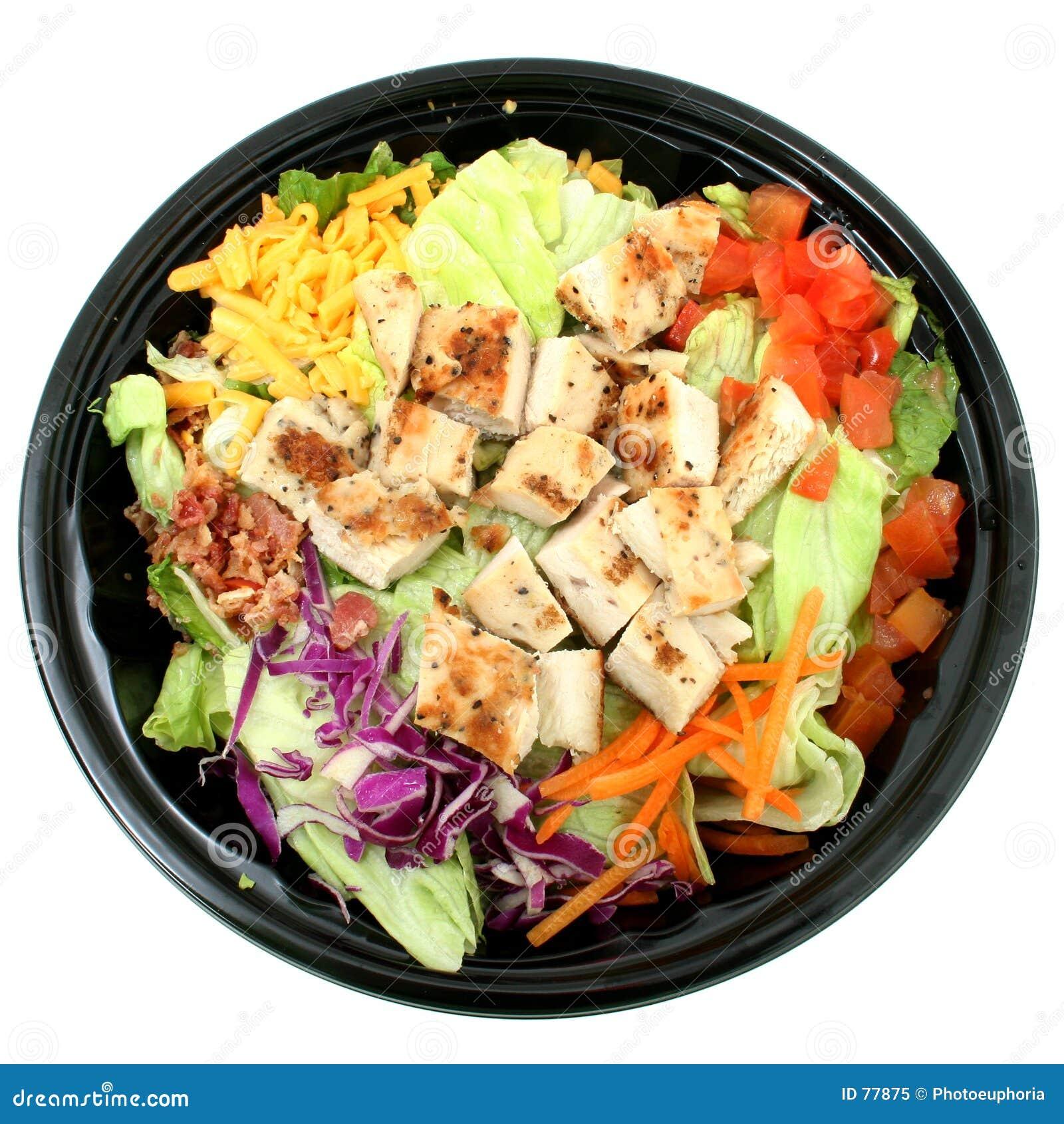 De geroosterde Salade van de Kip om te gaan