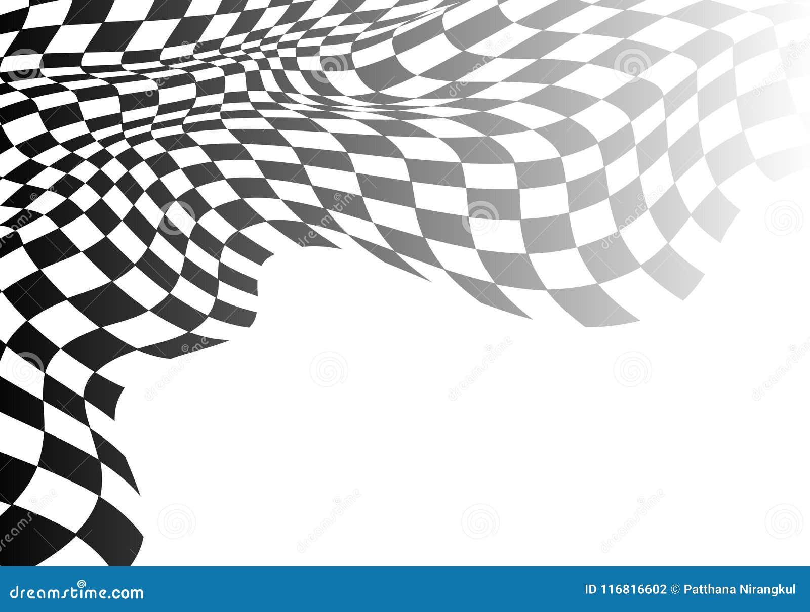 De geruite gradiënt van de vlaggolf op wit voor het kampioenschaps van het bedrijfs sportras succes vectorachtergrond