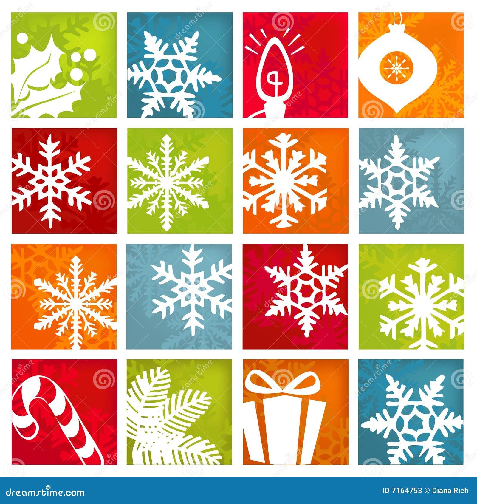 De gestileerde Pictogrammen van de Vakantie van de Winter