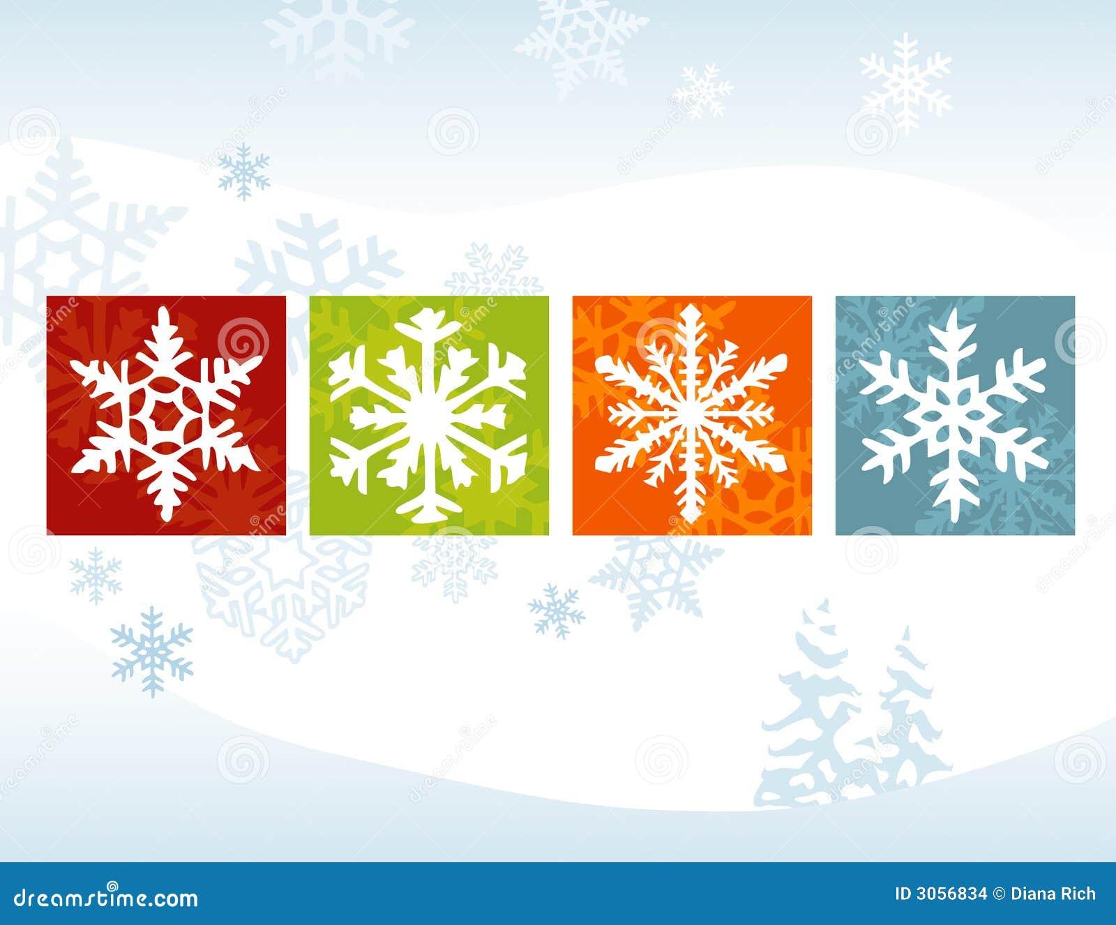 De gestileerde Rug van de Winter van de Sneeuwvlok