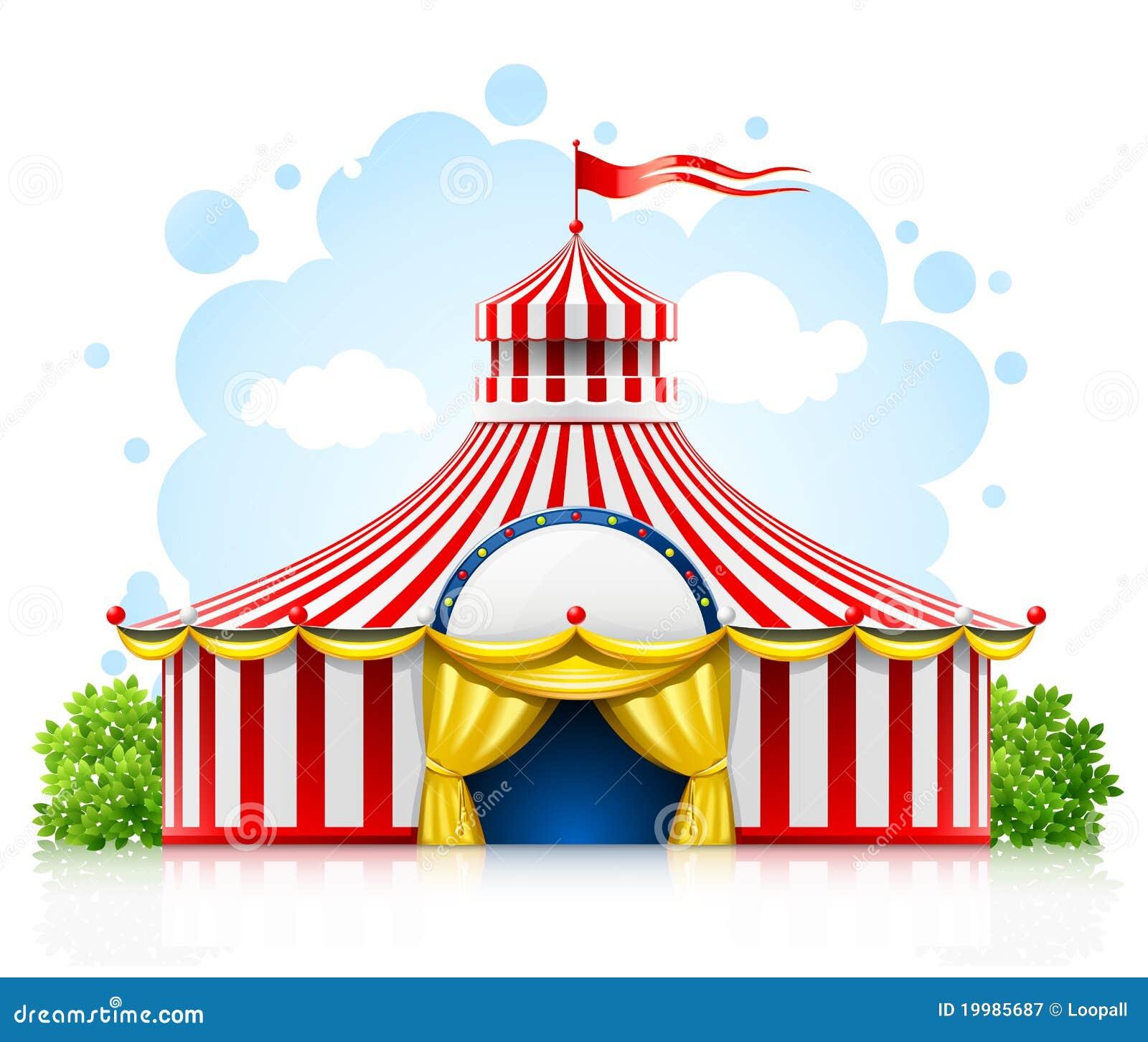 De gestreepte het wandelen tent van de circusmarkttent met vlag
