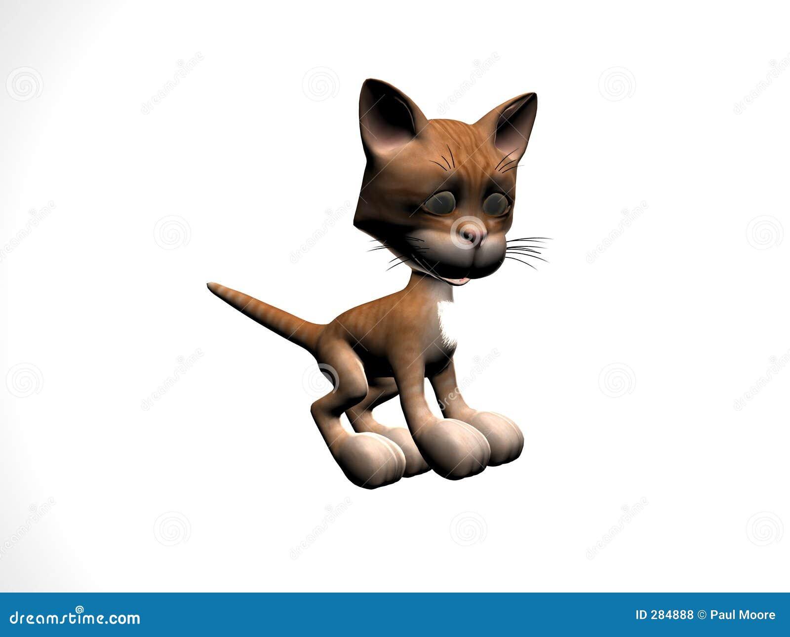 De Gestreepte kat van het katje