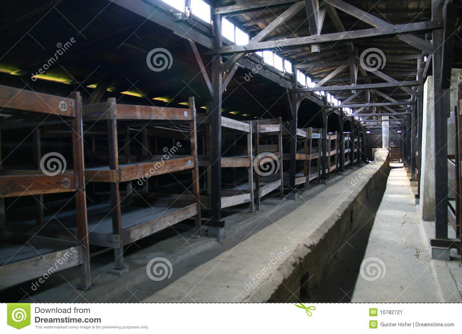 De gevangenisbarakken van Auschwitz
