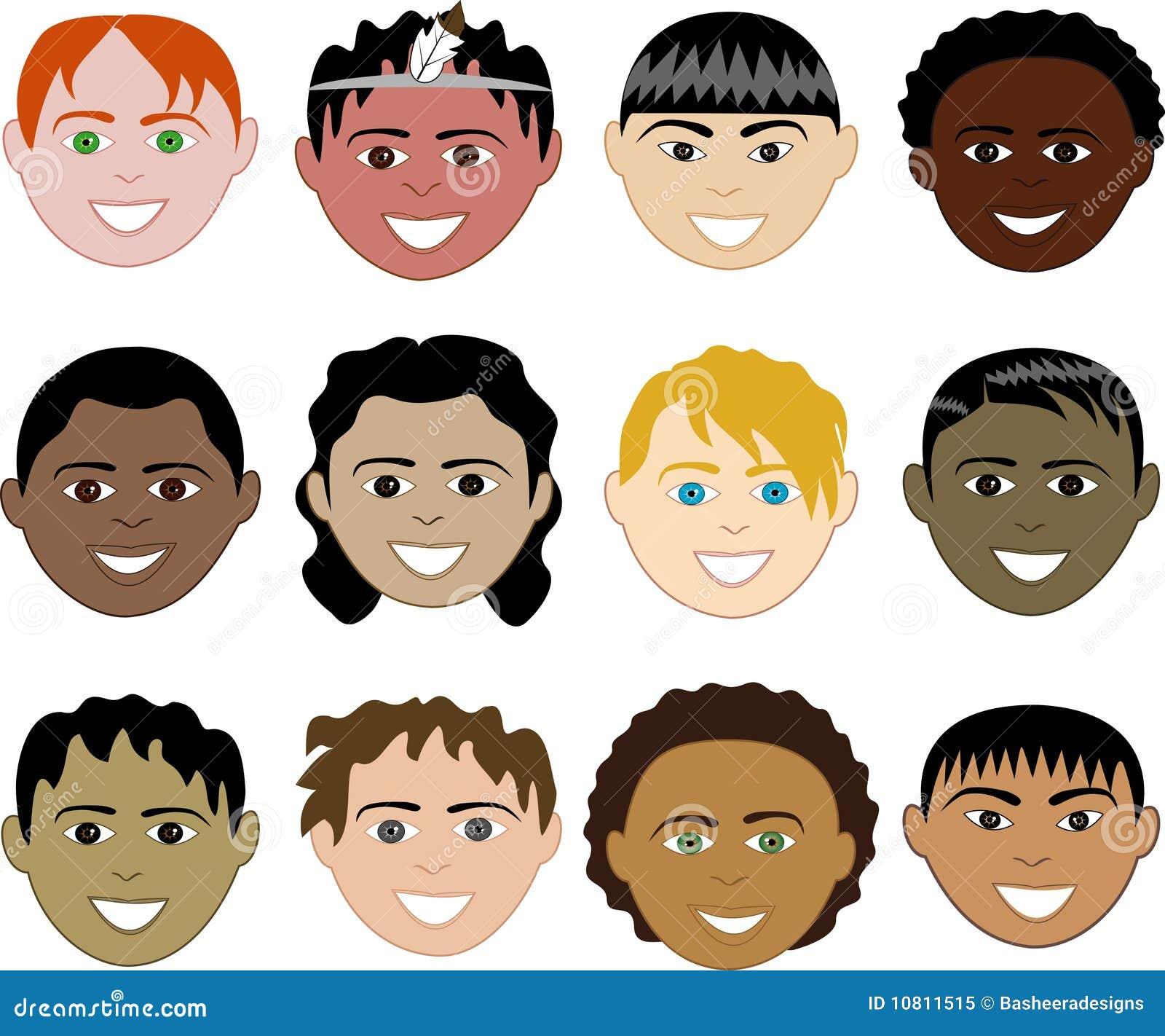 De gezichten van jongens royalty vrije stock foto afbeelding 10811515 - Oostelijk licht ...