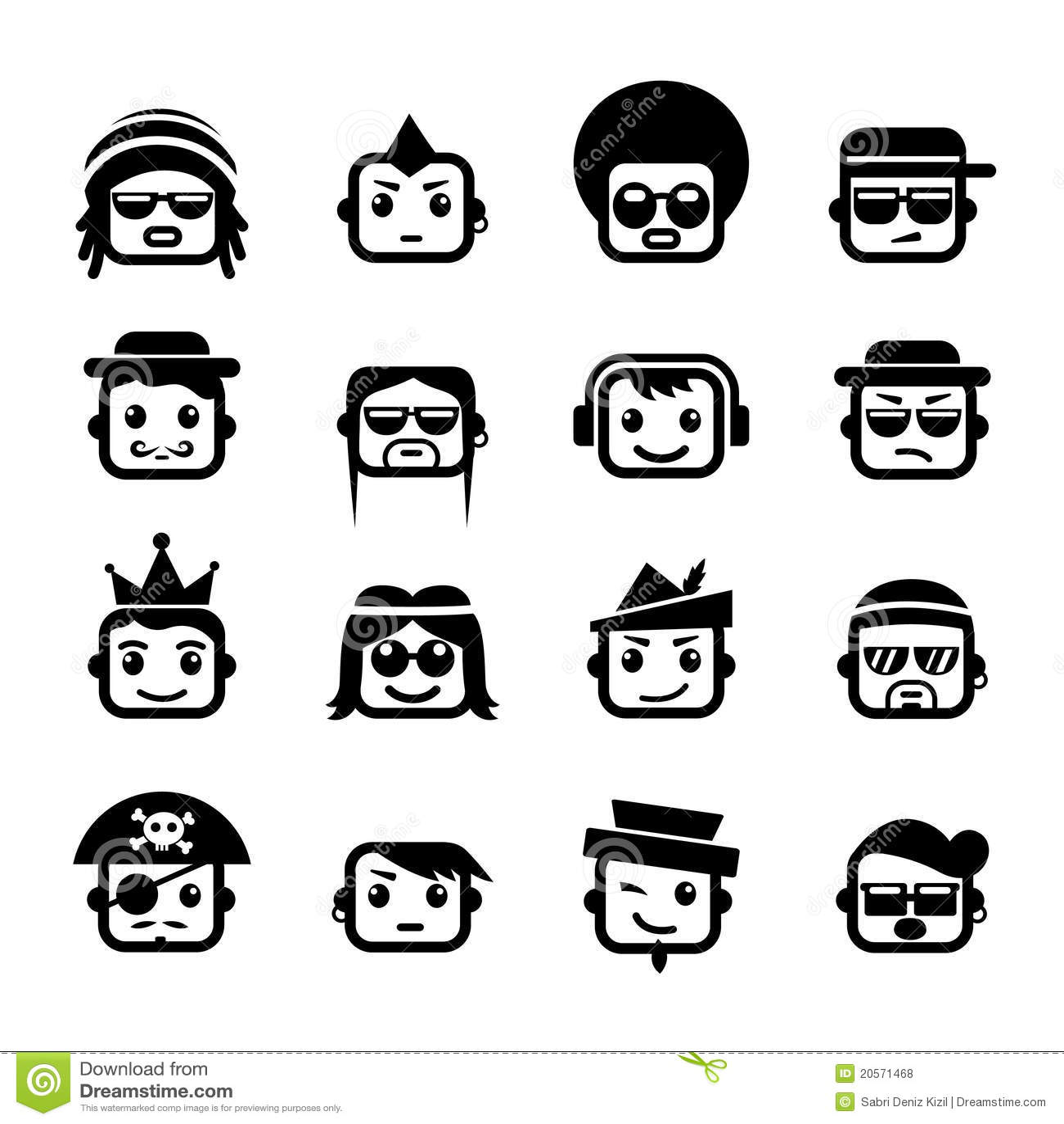 Image Sawamura Angry Png: De Gezichten Van Smiley Royalty-vrije Stock Foto's