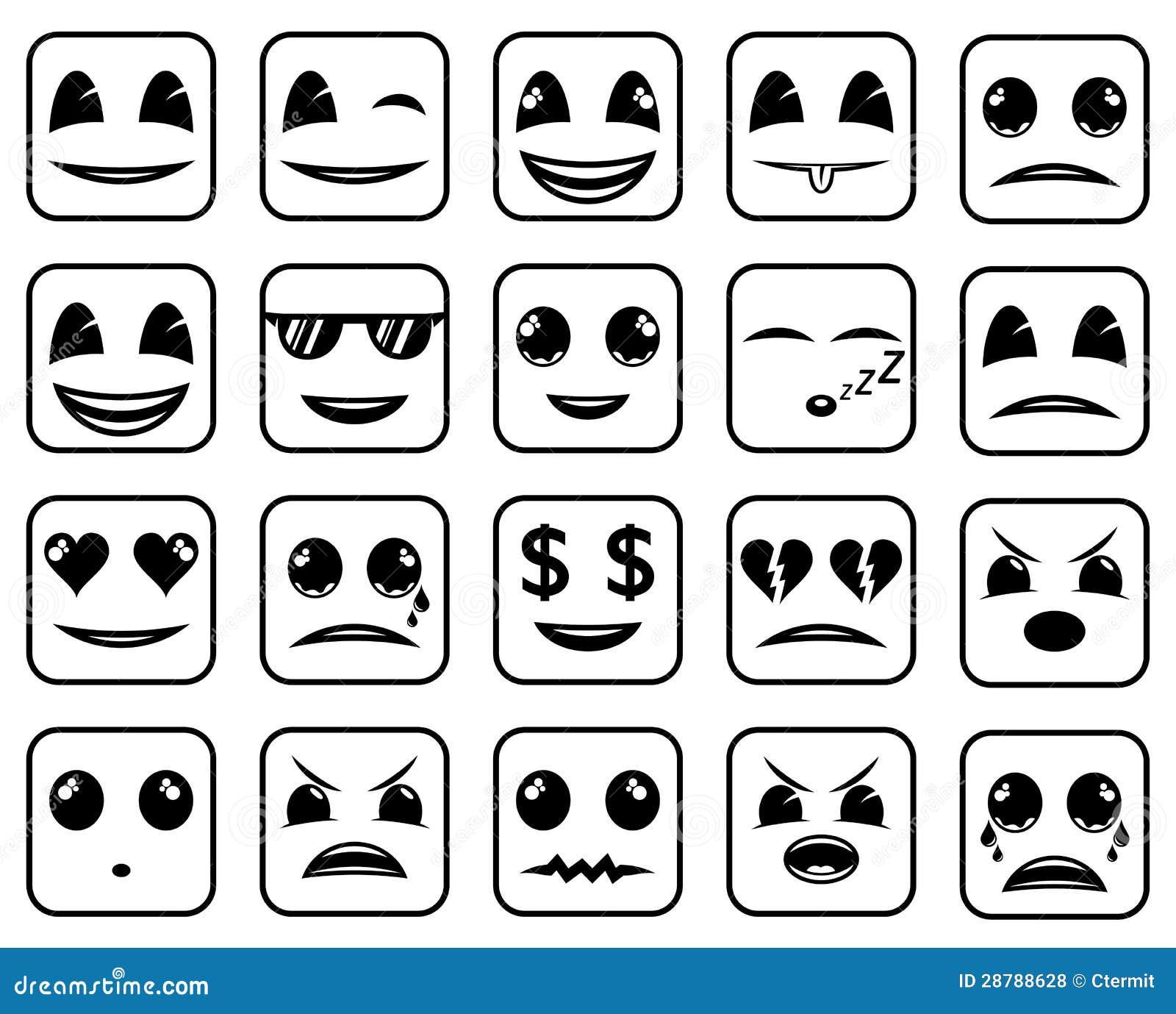 Image Sawamura Angry Png: De Gezichtenpictogrammen Van Smiley Vector Illustratie