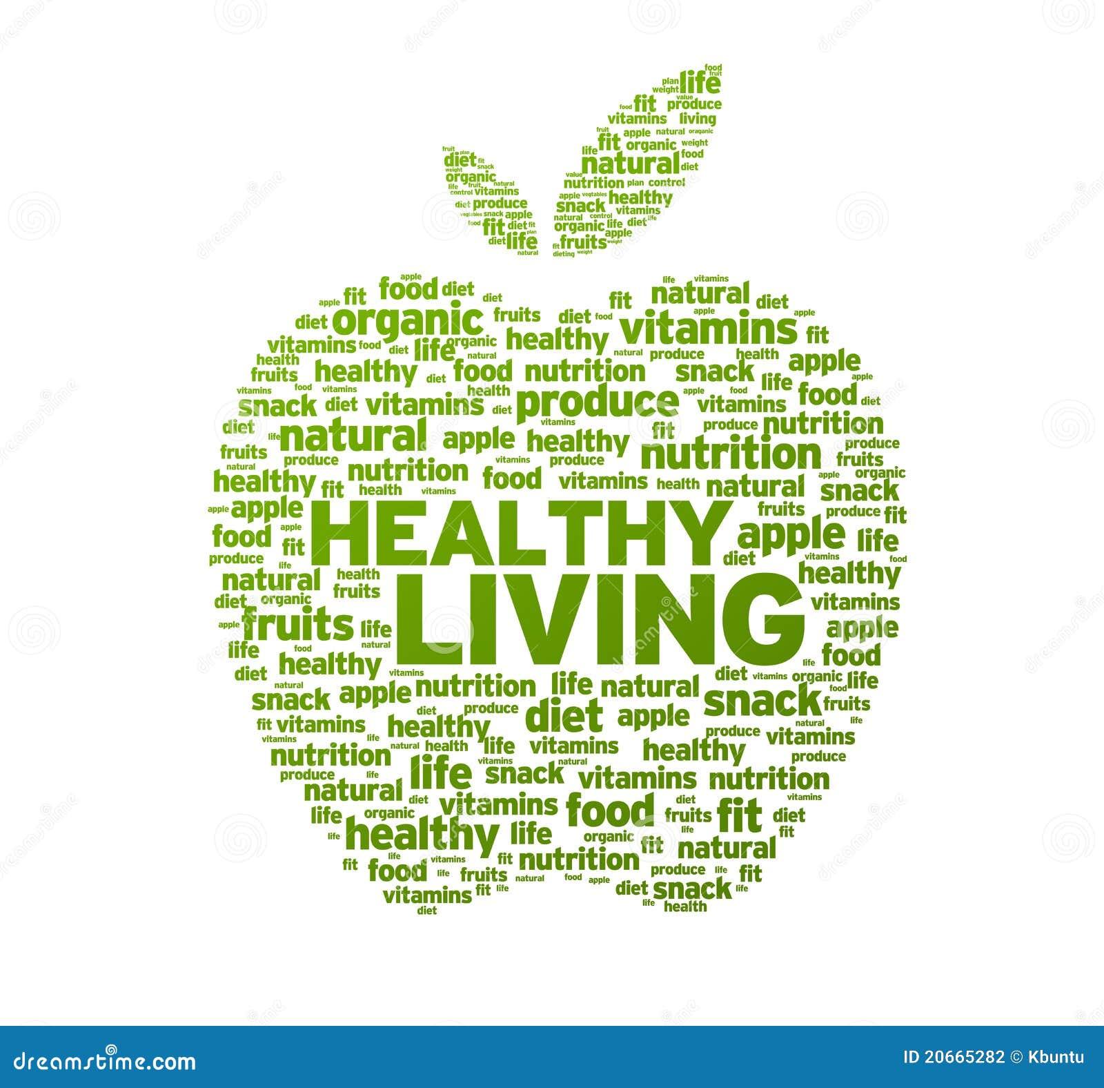 De gezonde het Leven Illustratie van de Appel