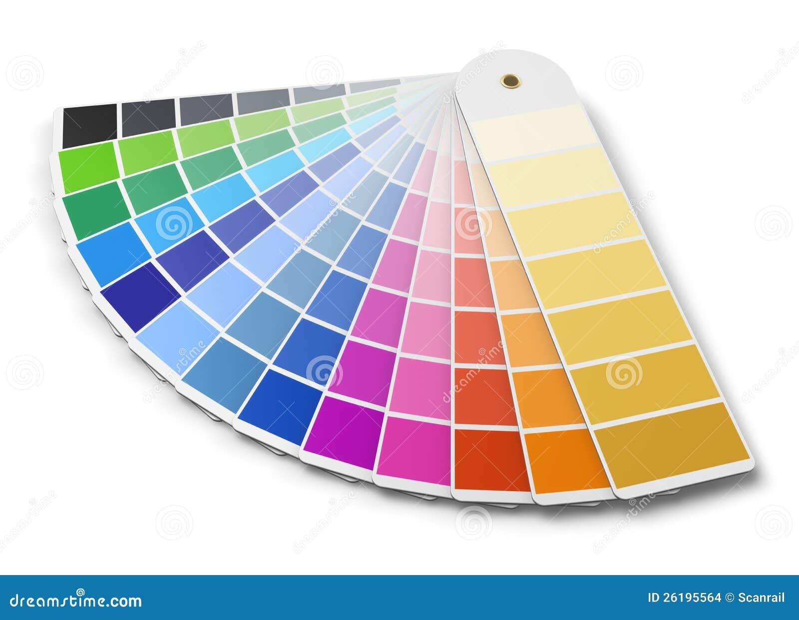De gids van het de kleurenpalet van Pantone