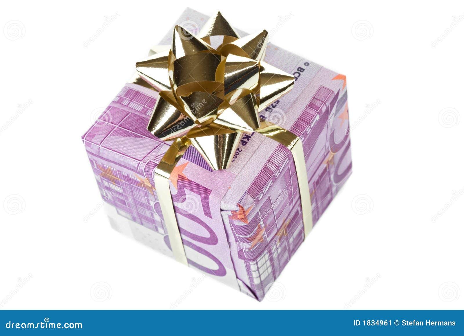 De giftdoos van het geld van 500 euro