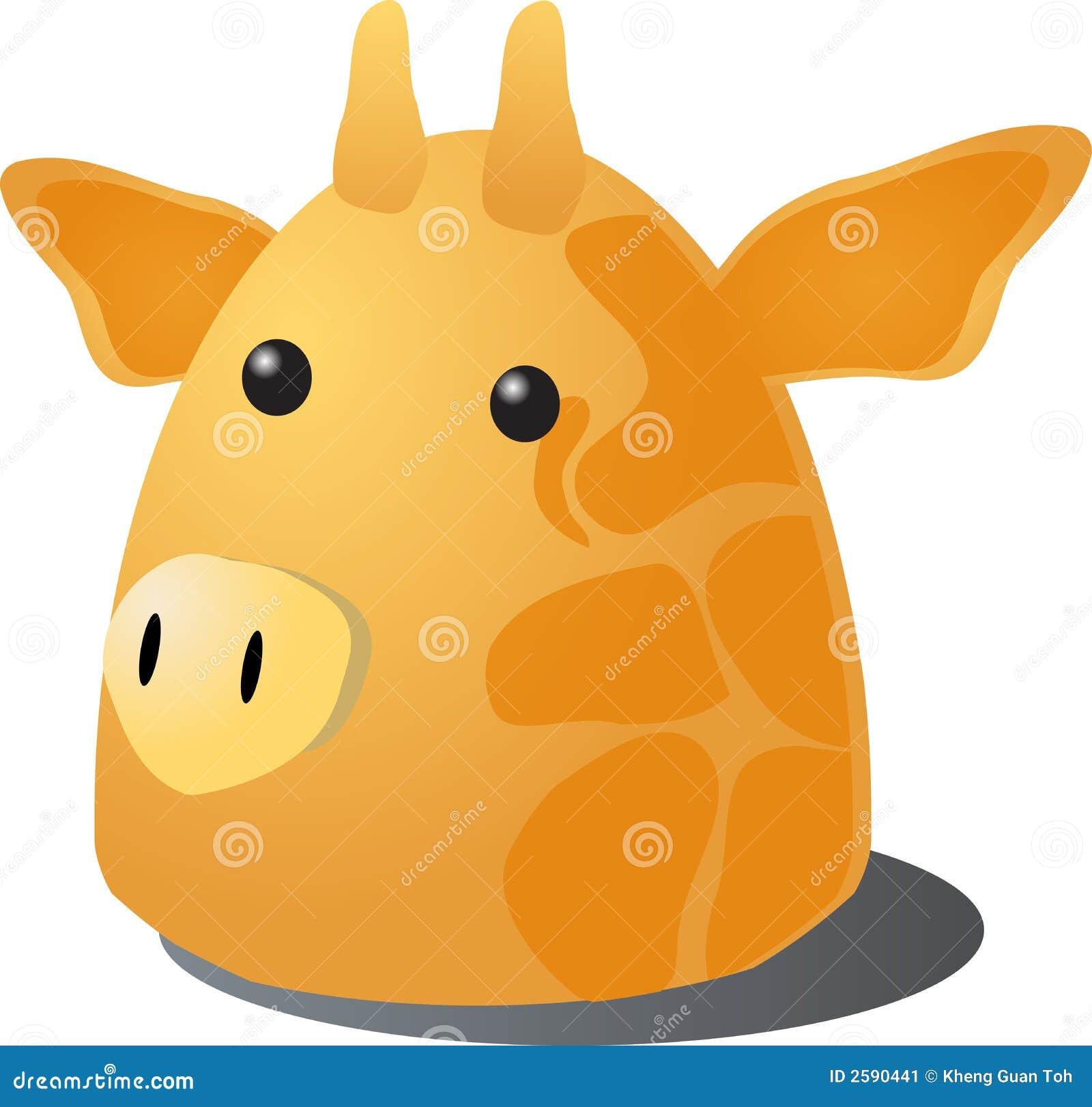 De giraf van het beeldverhaal