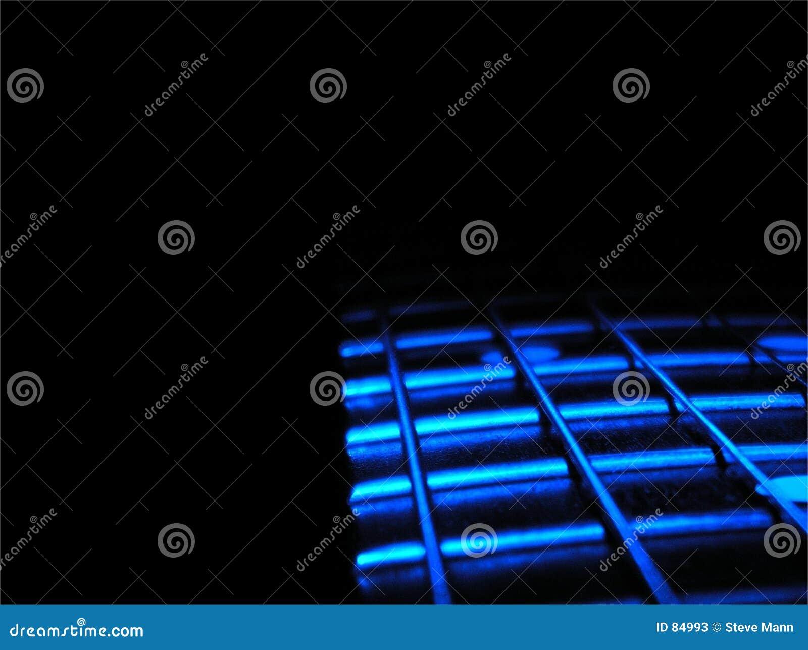 De Gitaar van blauw