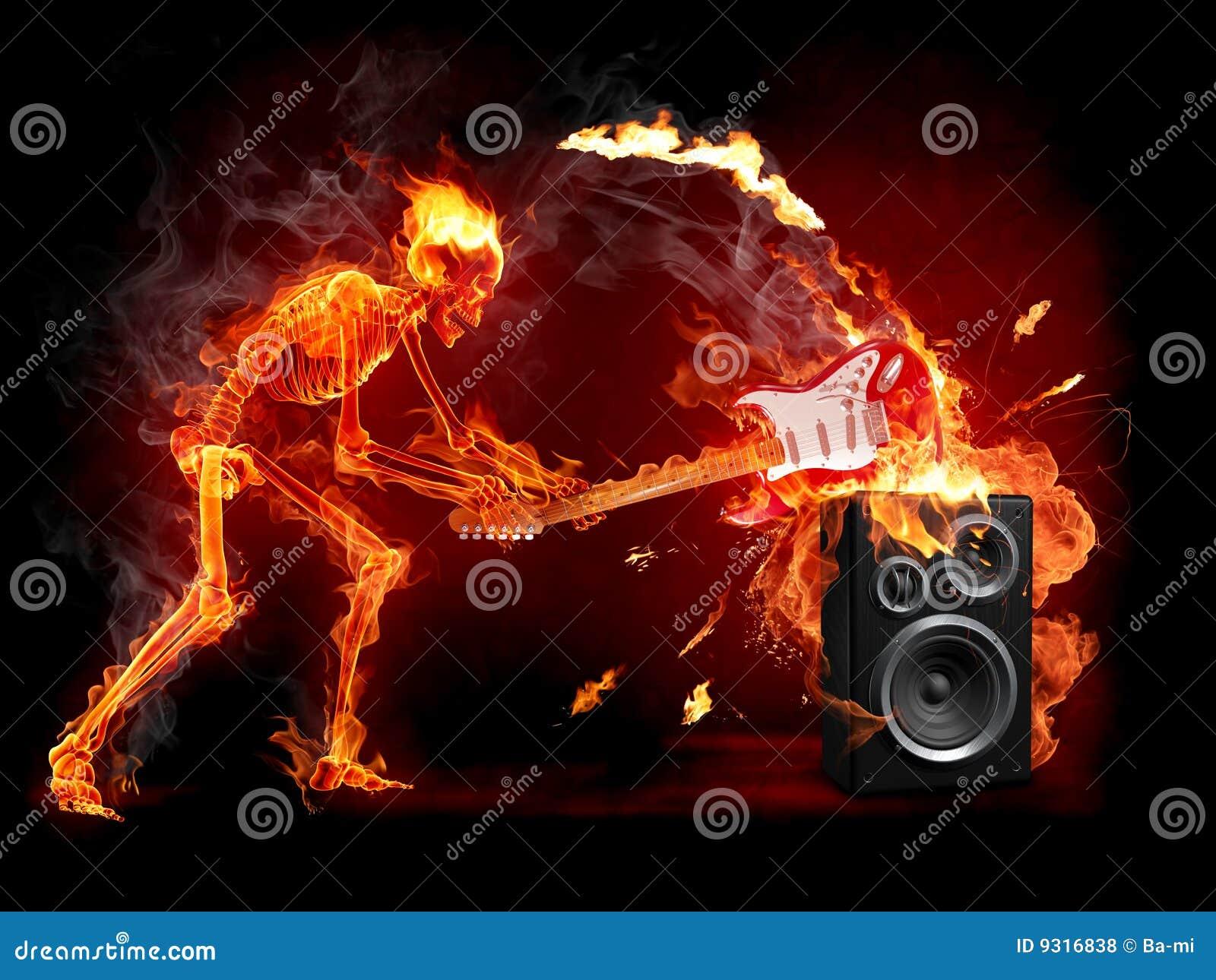 De gitaar van de verbrijzeling