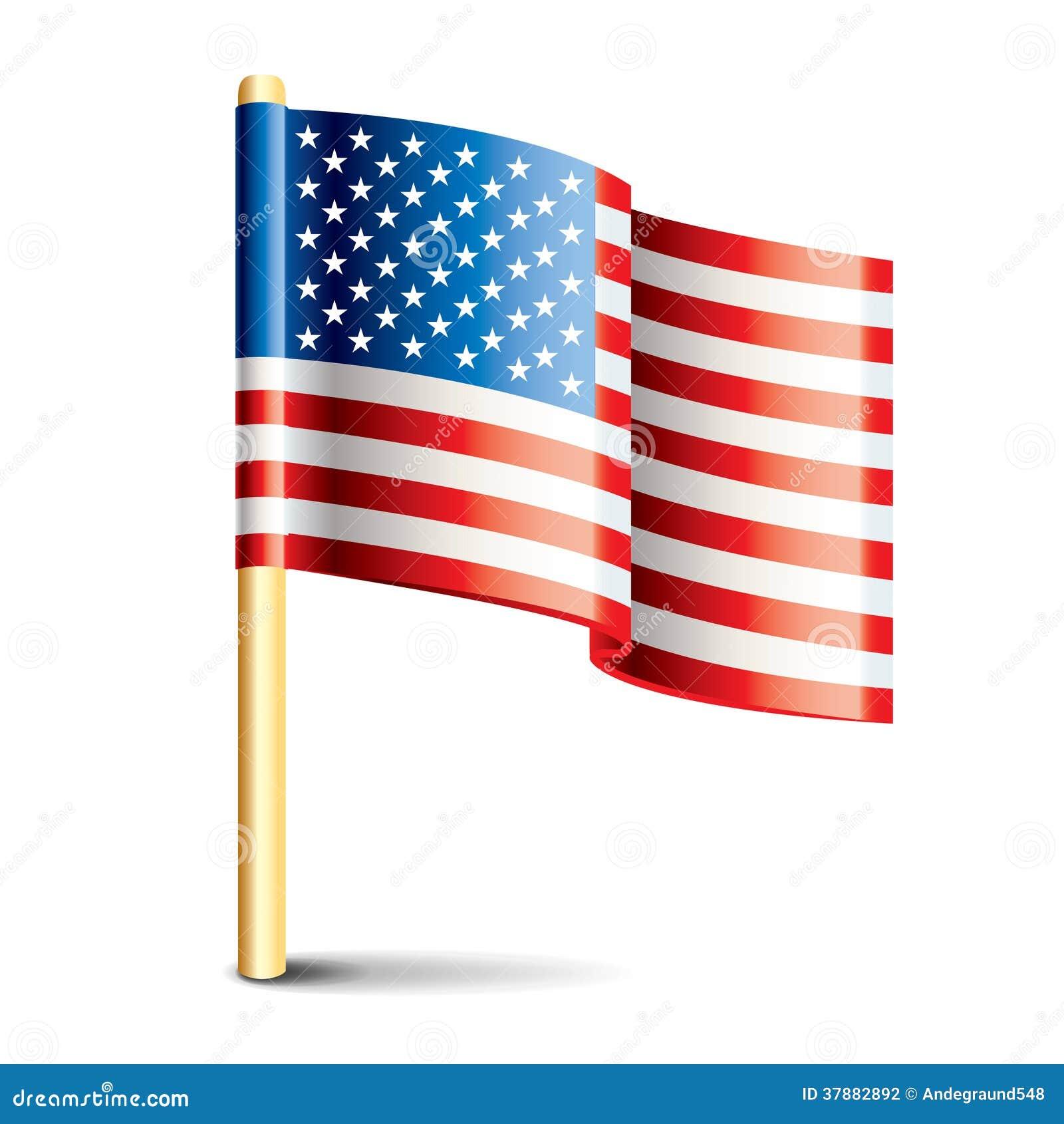De glanzende vlag van de Verenigde Staten van Amerika