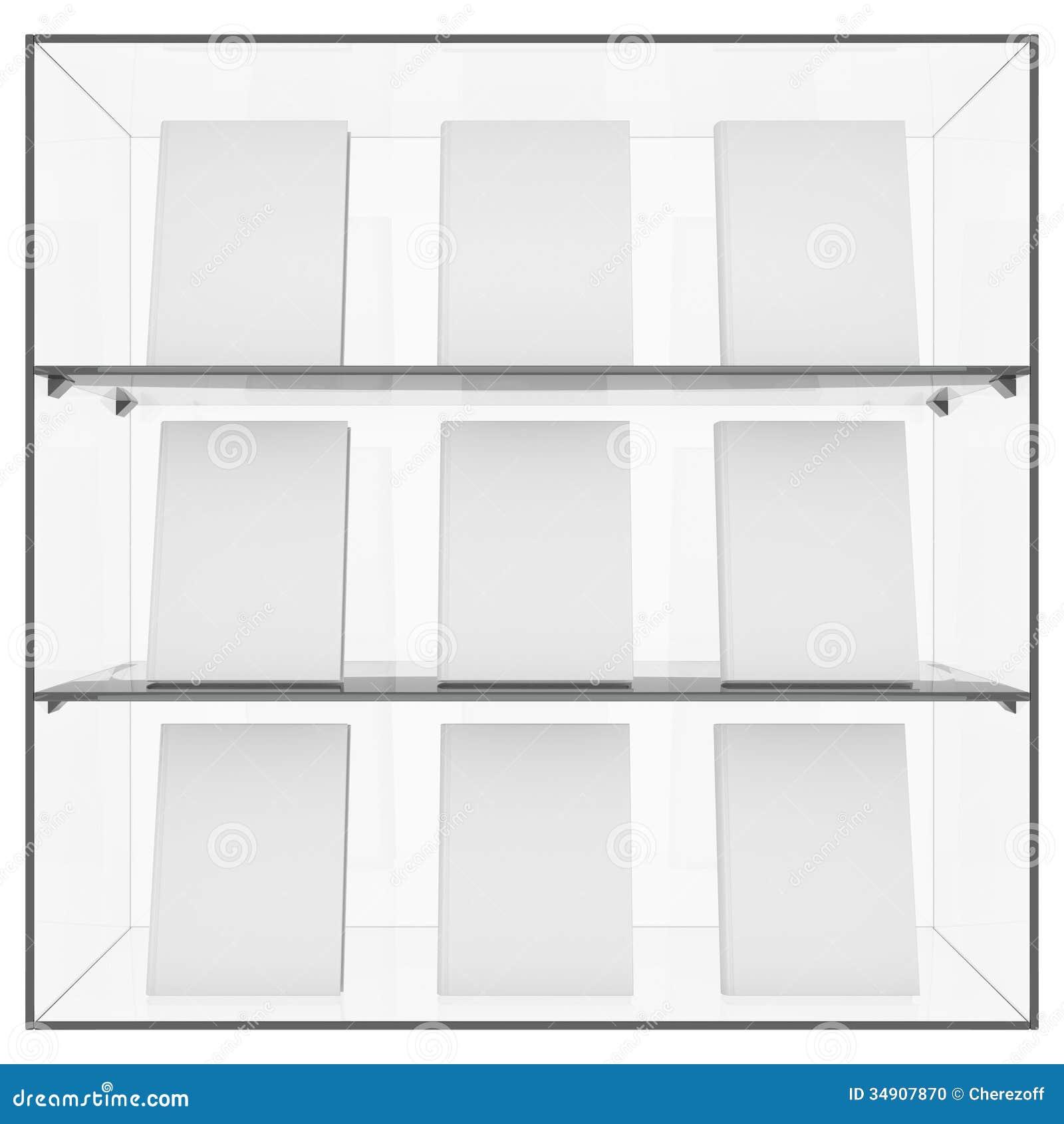 De glasplank met boeken