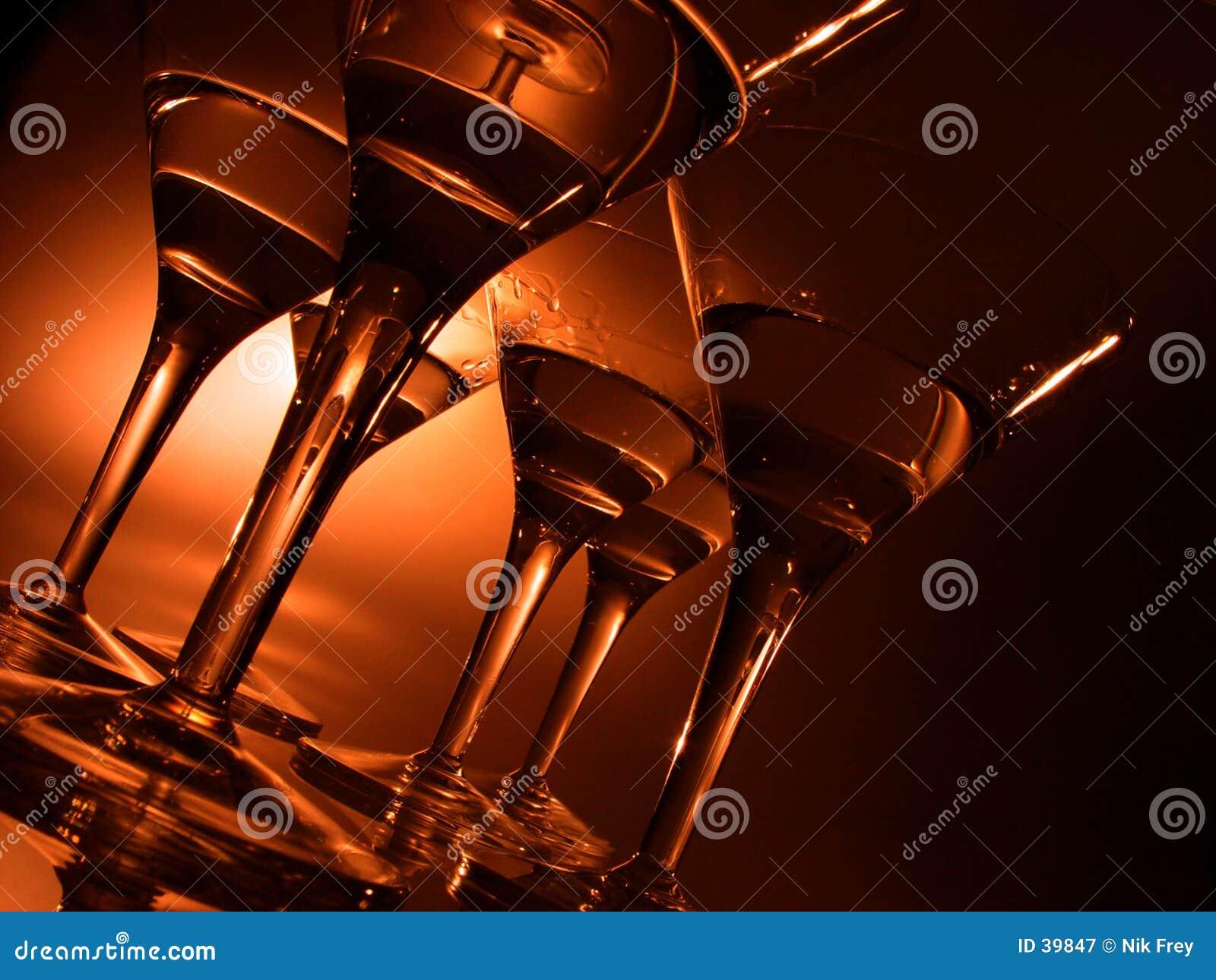 De glazen van de cocktail