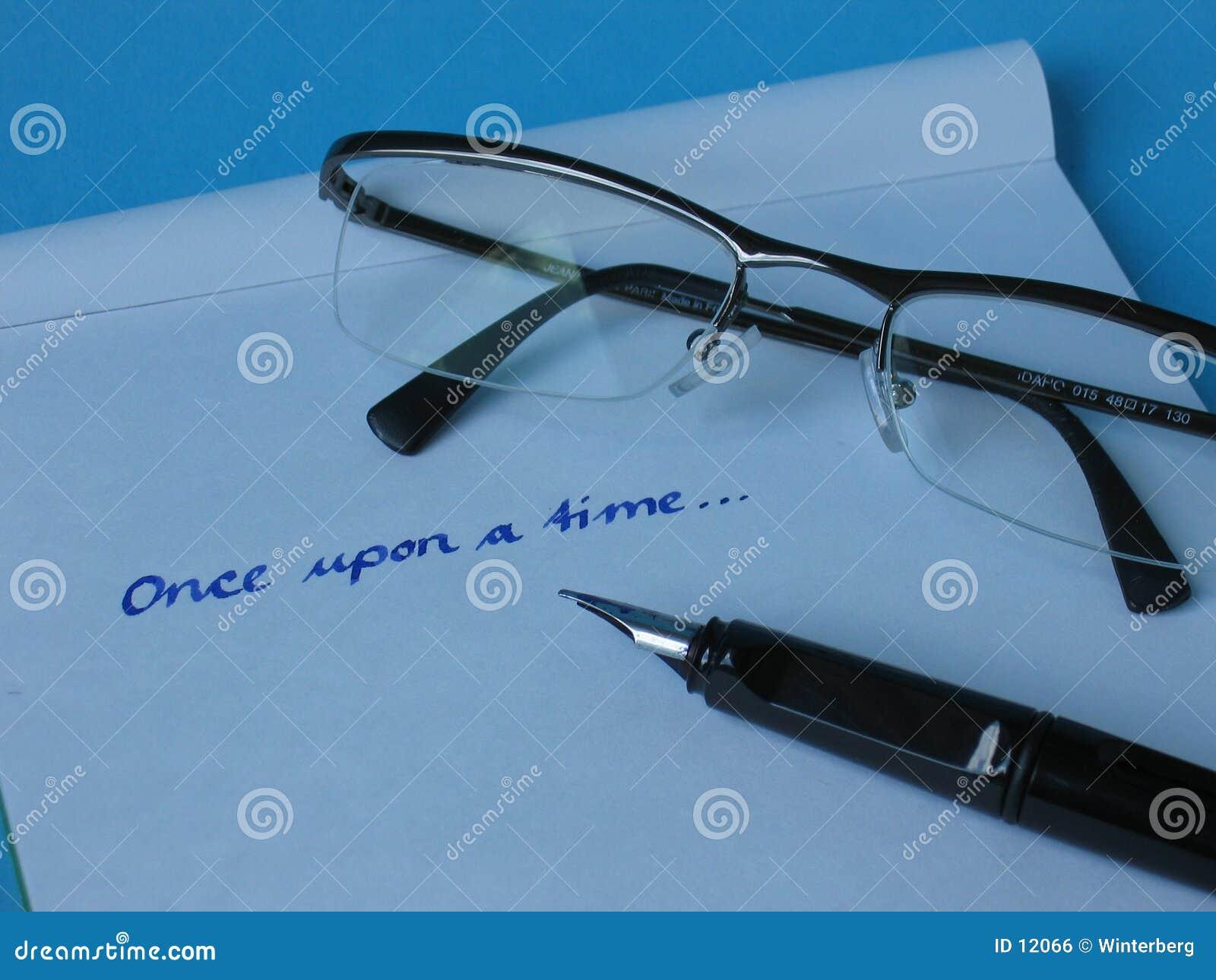 De Glazen van het Document van de pen