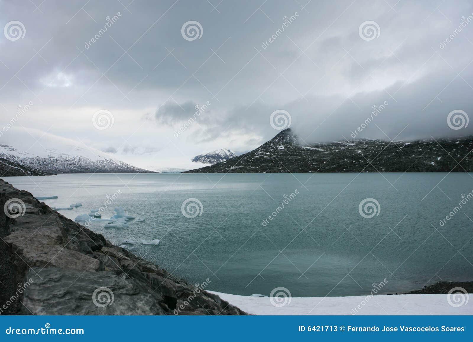 De gletsjer van Jostedalsbreen