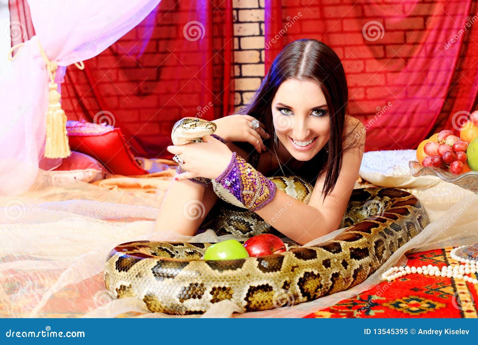 De glimlach van de python