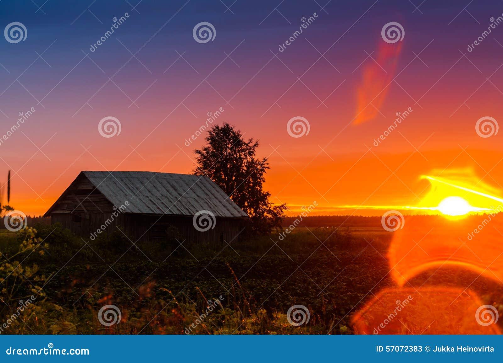 De Gloed van de zonsonderganglens