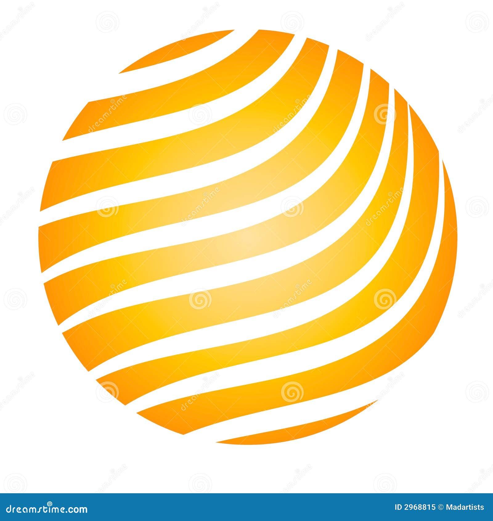 De gloeiende gele strepen van de bal stock illustratie afbeelding 2968815 - Sterke witte werpen en de bal ...