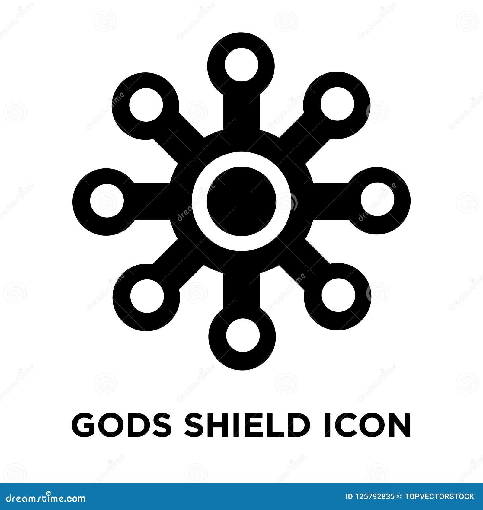 De goden beschermen pictogramvector op witte achtergrond, embleemconce wordt geïsoleerd die