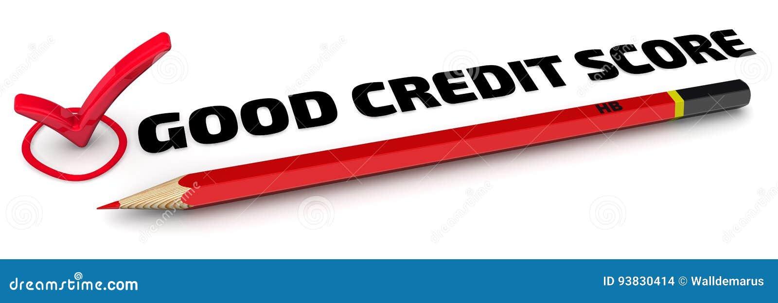 De goede Score van het Krediet Het vinkje