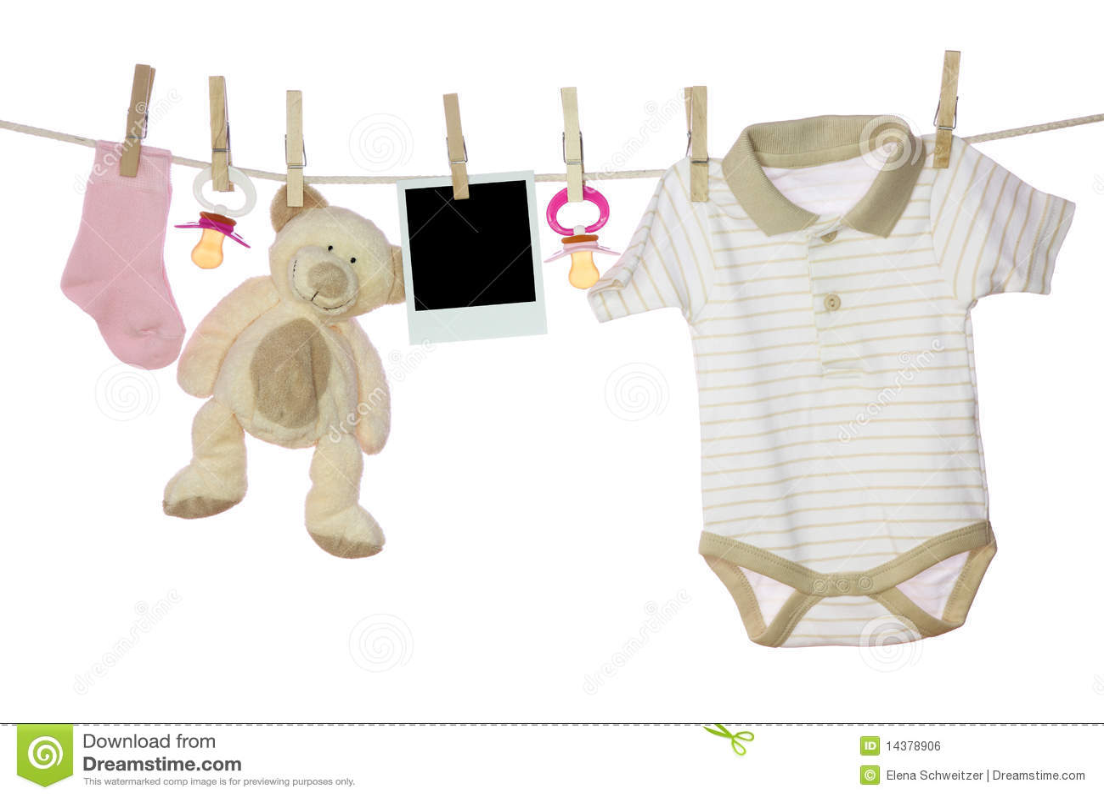 De goederen en de foto van de baby