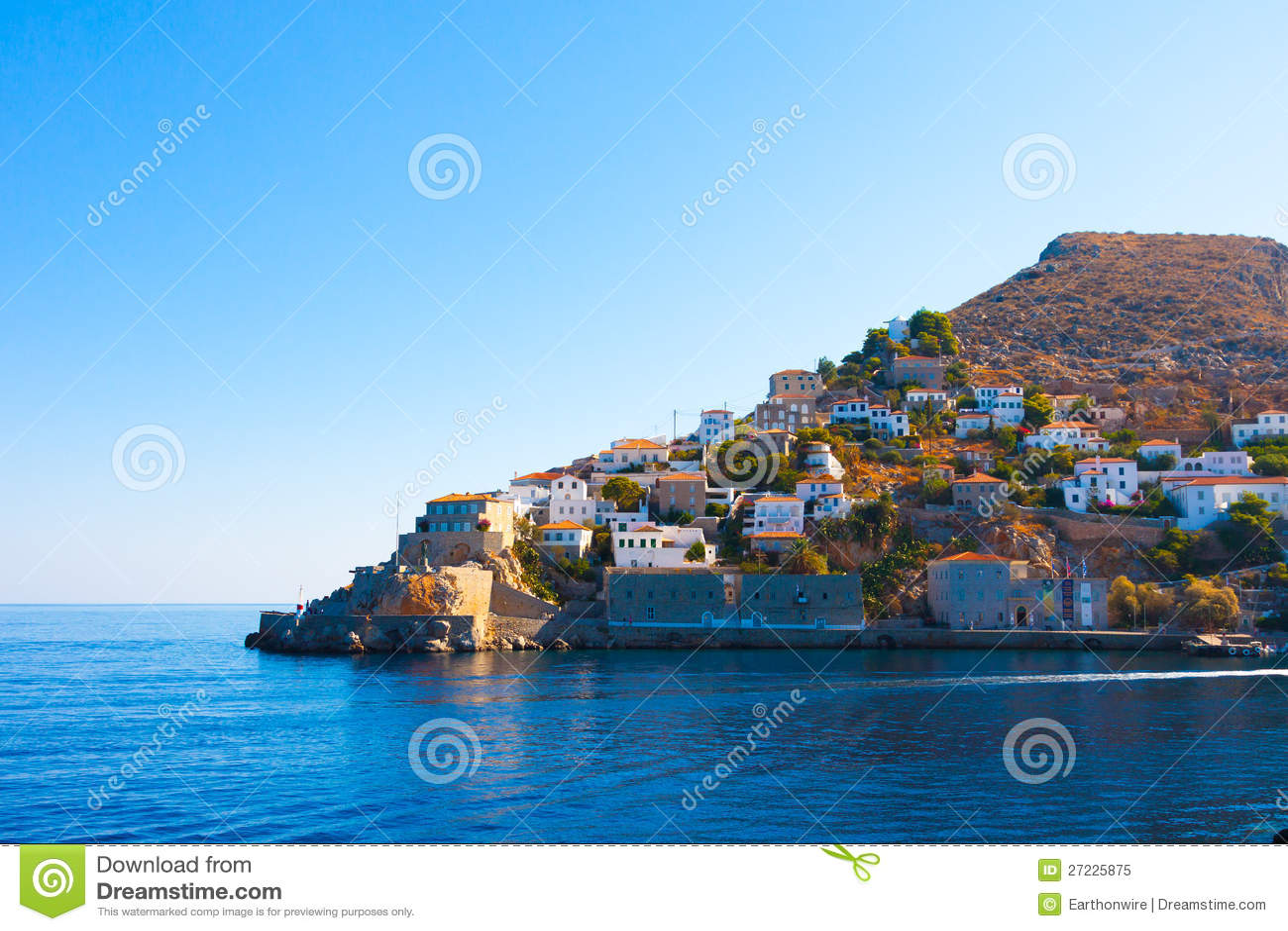 De Golf Griekenland van Saronikos van het Eiland van Hydra