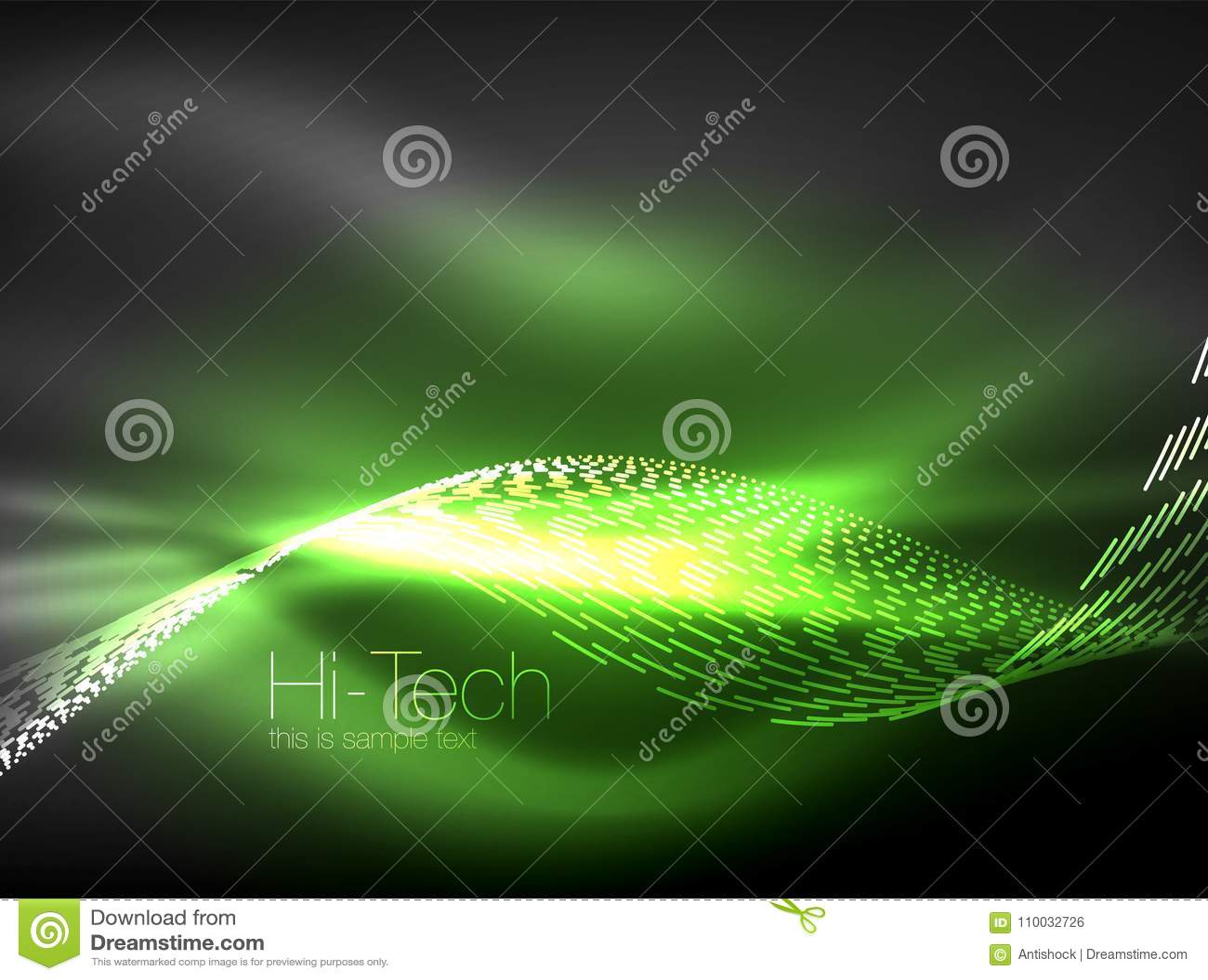 De golven van de neonrook